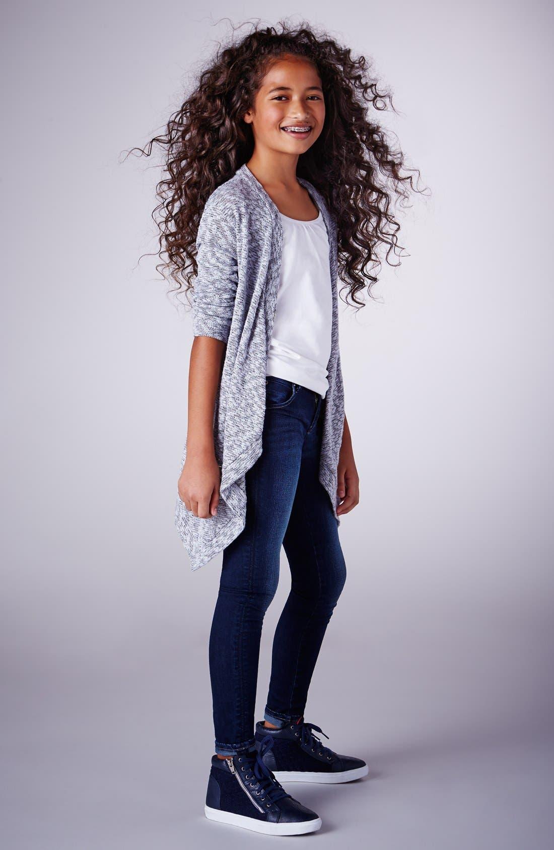 Alternate Image 2  - Hudson Kids 'Collin' Flap Pocket Skinny Jeans (Big Girls)