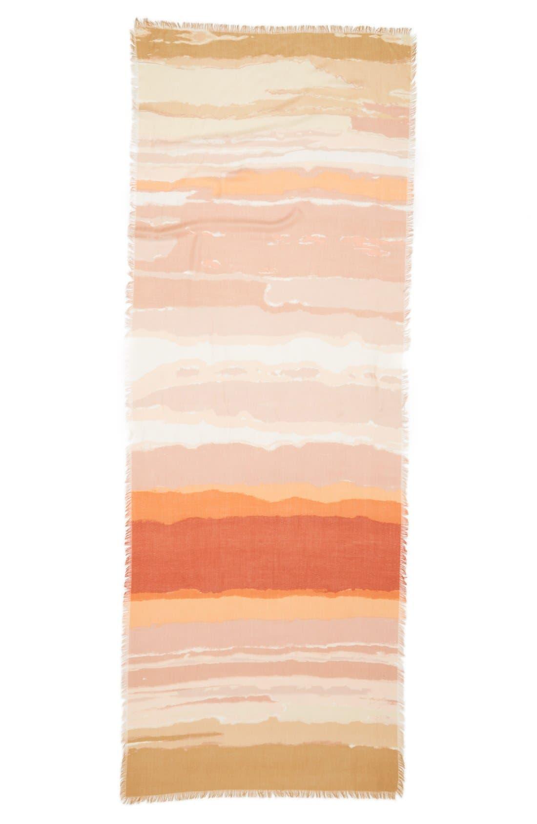 Alternate Image 2  - Nordstrom 'Watercolor Block' Cashmere & Silk Scarf