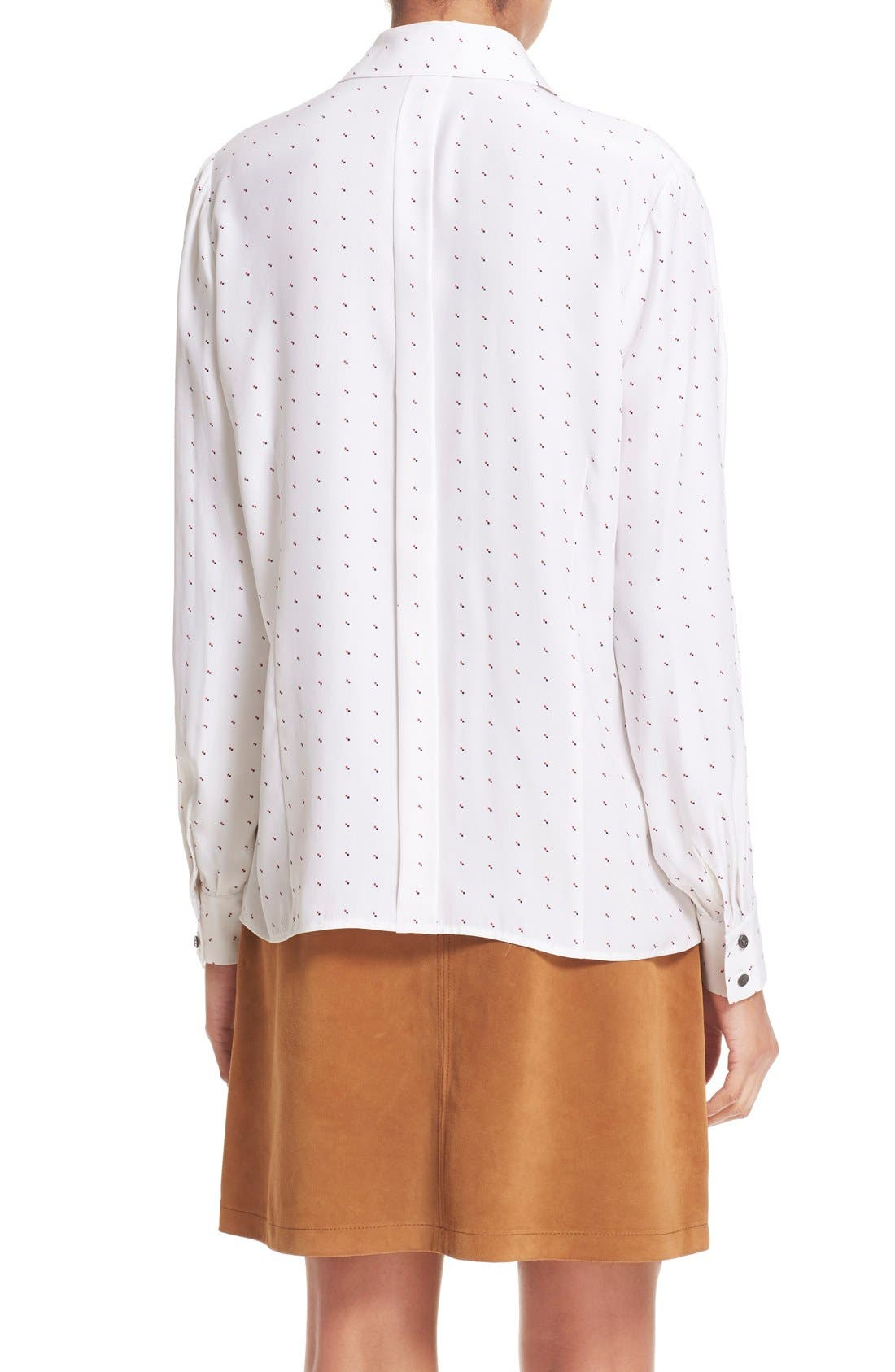Alternate Image 2  - FRAME 'Le Classic' Pleated Silk Shirt (Nordstrom Exclusive)