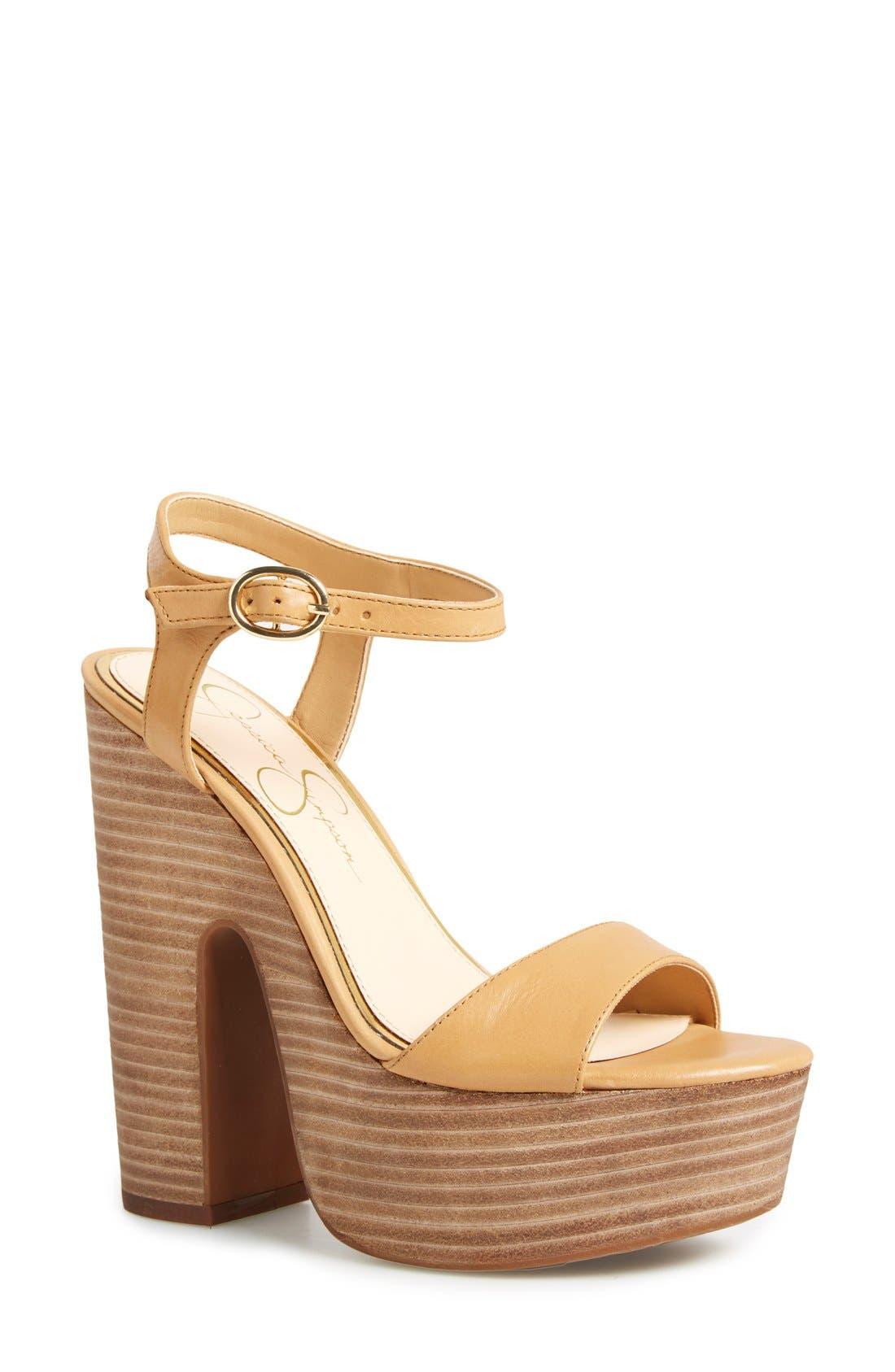 JESSICA SIMPSON 'Whirl' Platform Sandal