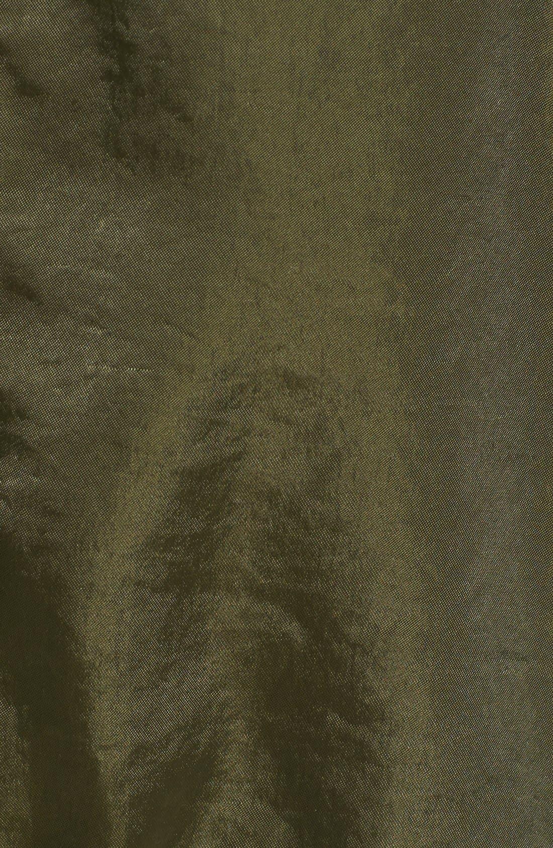 Alternate Image 5  - Vince Camuto Quilt Detail Satin Anorak (Regular & Petite)