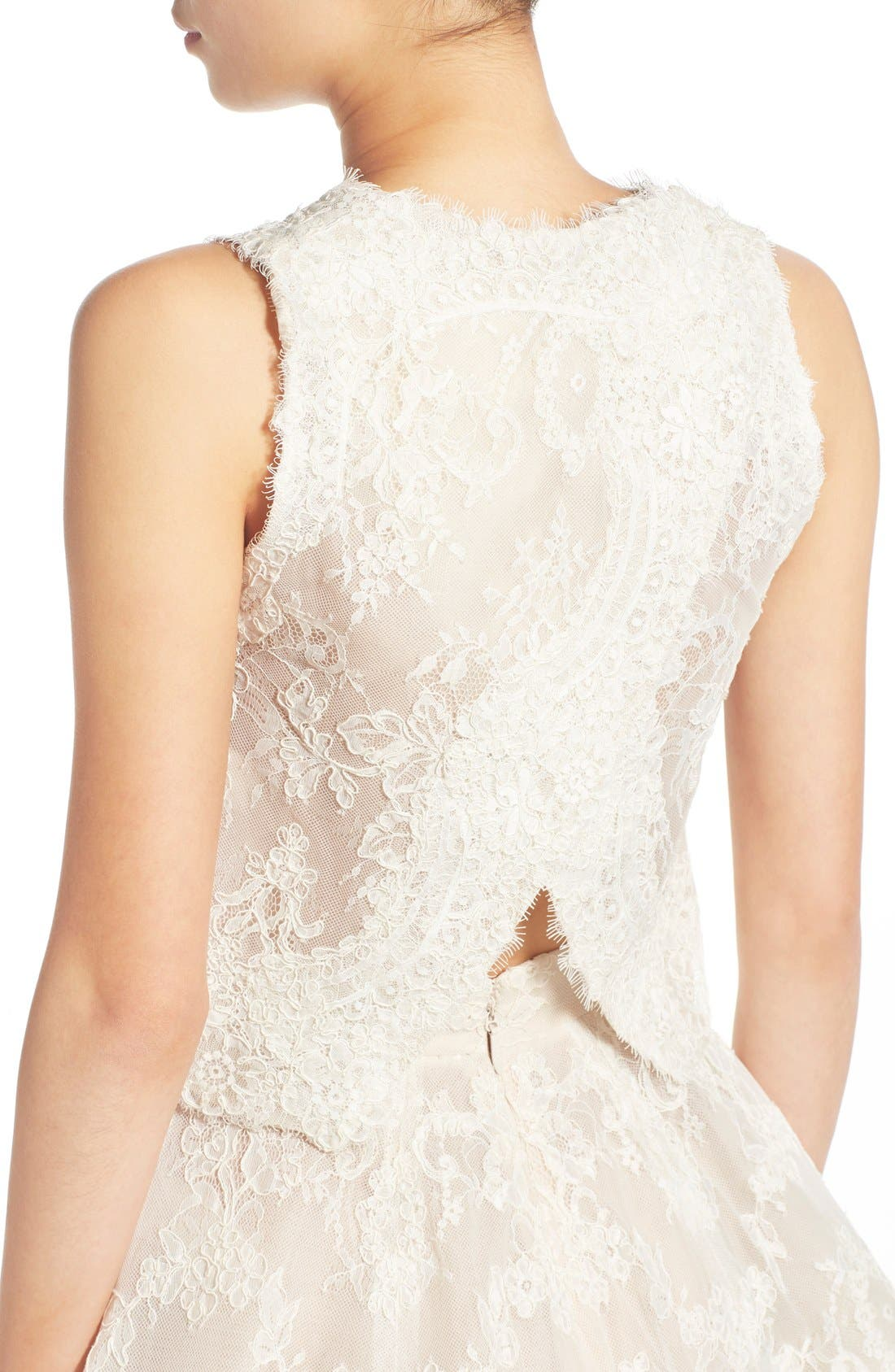 Alternate Image 4  - BLISS Monique Lhuillier 2-Pc. Embroidered Lace Dress