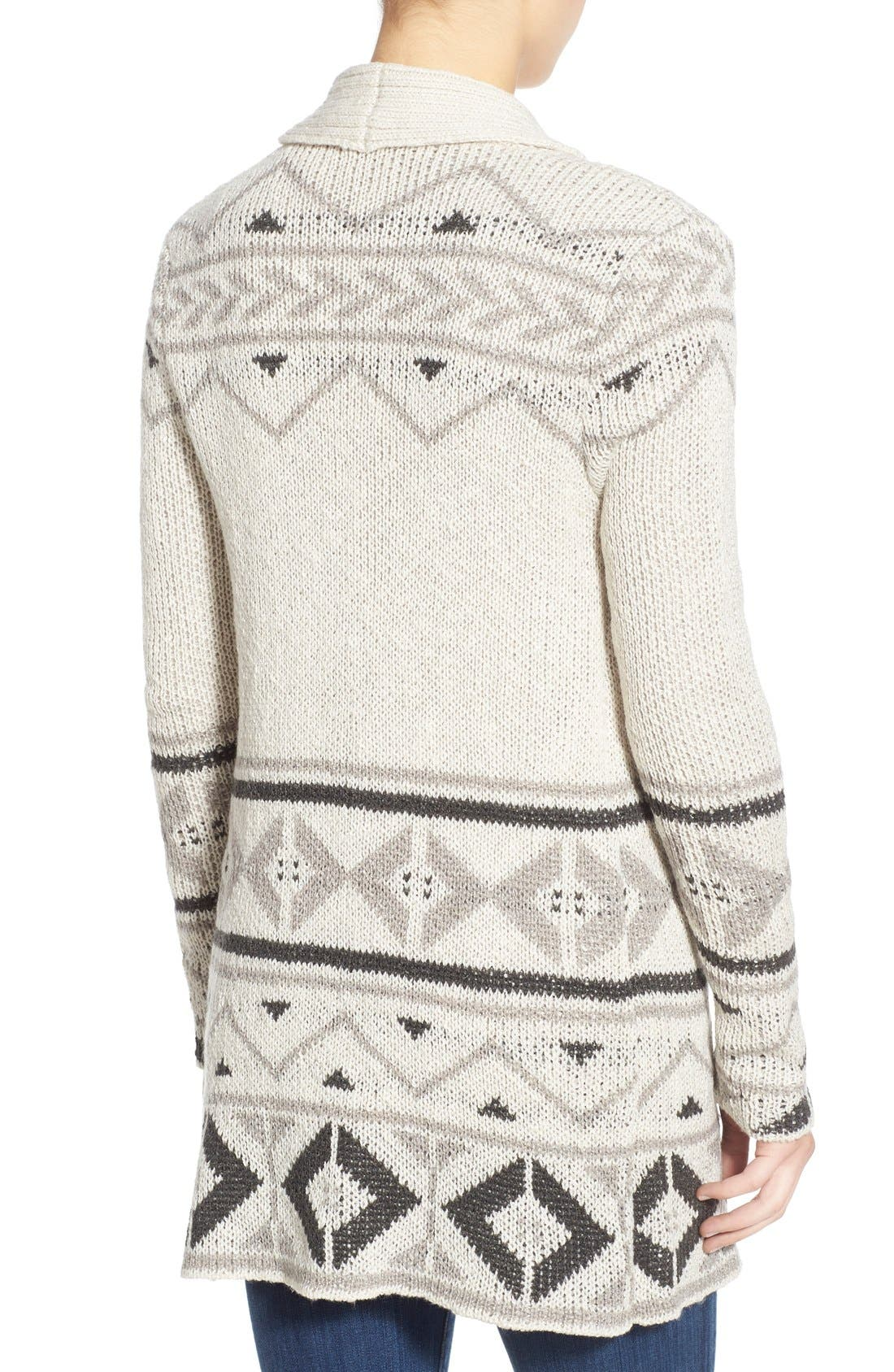 Alternate Image 2  - cupcakes and cashmere 'Reilly' Open Front Long Cardigan