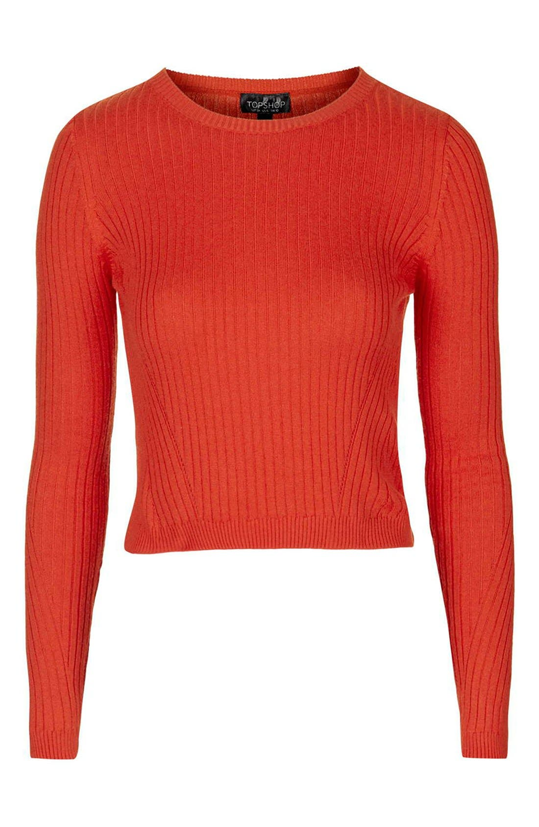 Alternate Image 4  - Topshop Ribbed Crop Sweater