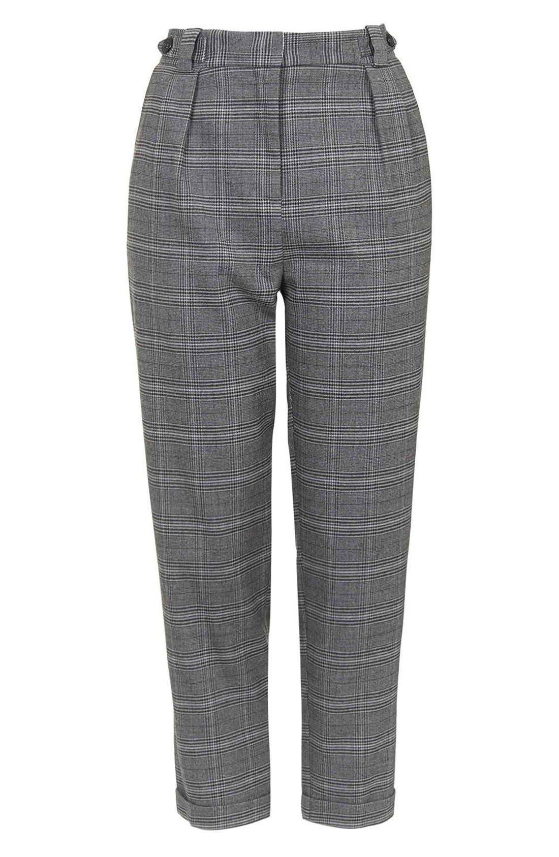 Alternate Image 4  - Topshop Check Crop Pants