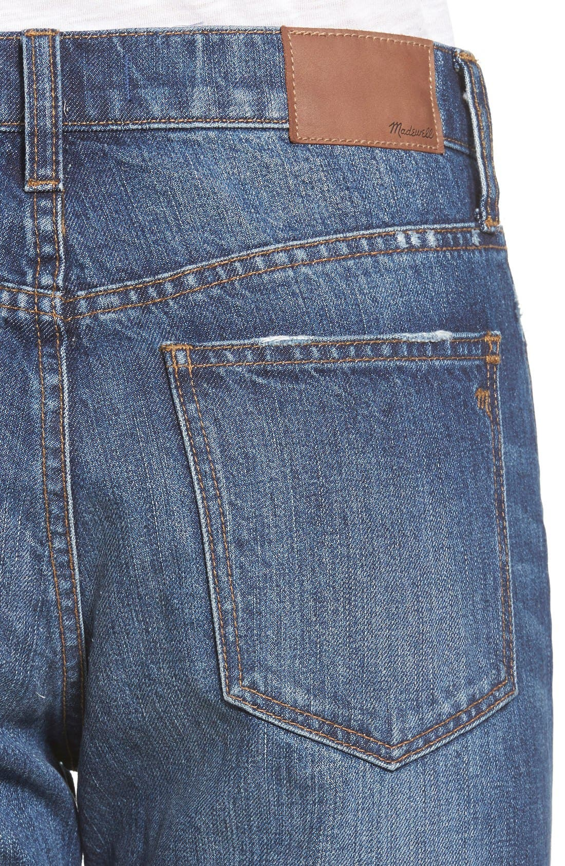 Alternate Image 4  - Madewell Crop Straight Leg Jeans (Preston)