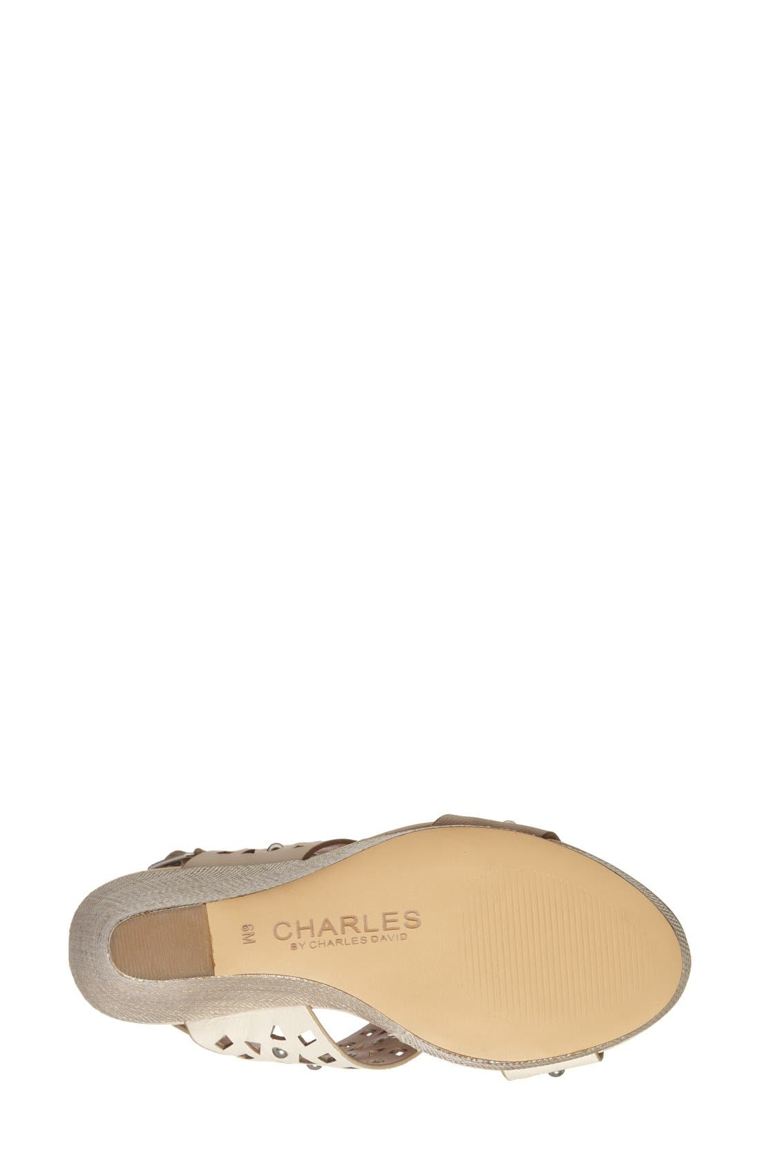 Alternate Image 4  - Charles by Charles David 'Aloof' Wedge Sandal (Women)