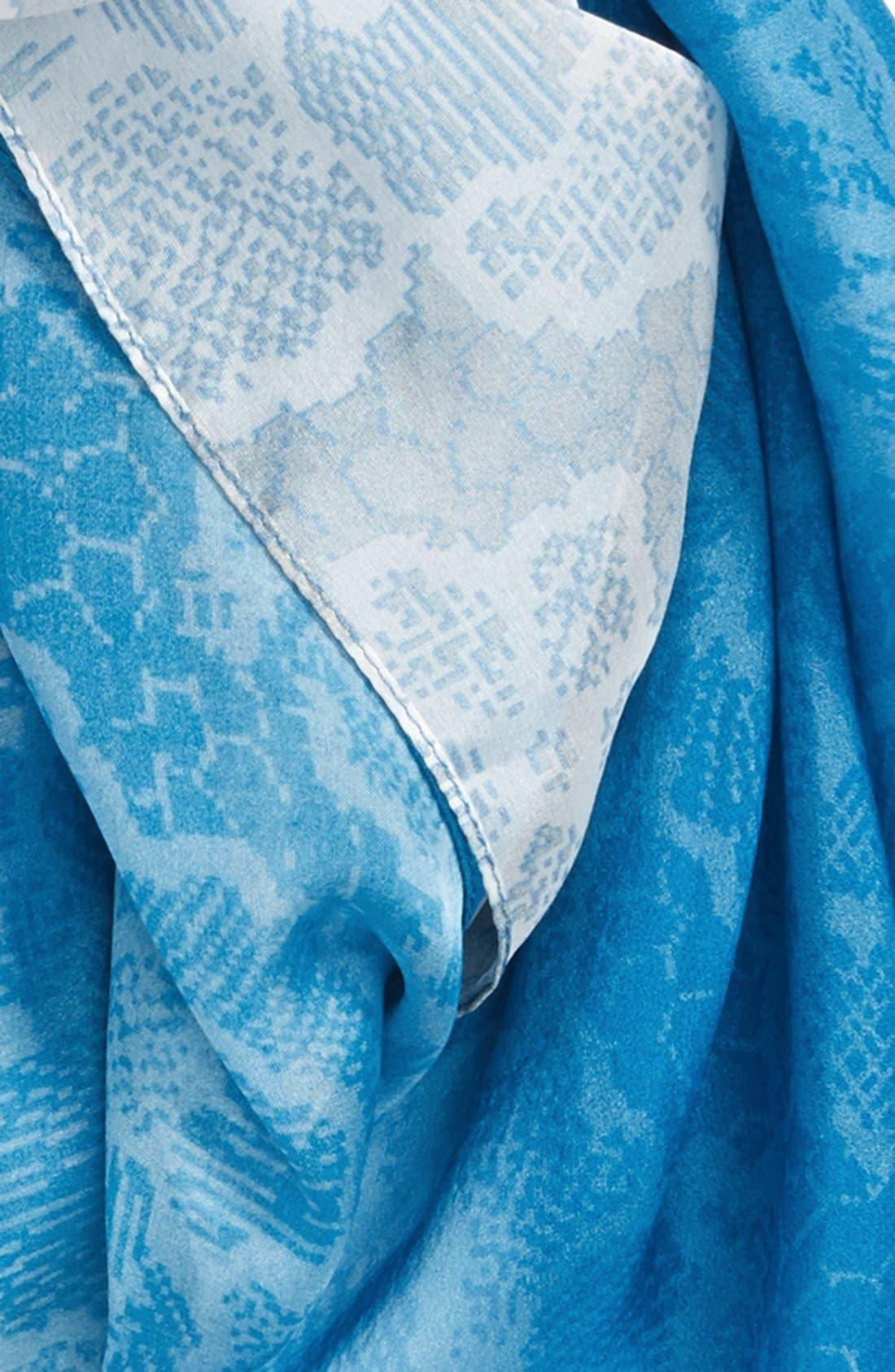 Alternate Image 3  - Nordstrom 'Lace Haze' Silk Chiffon Square Scarf