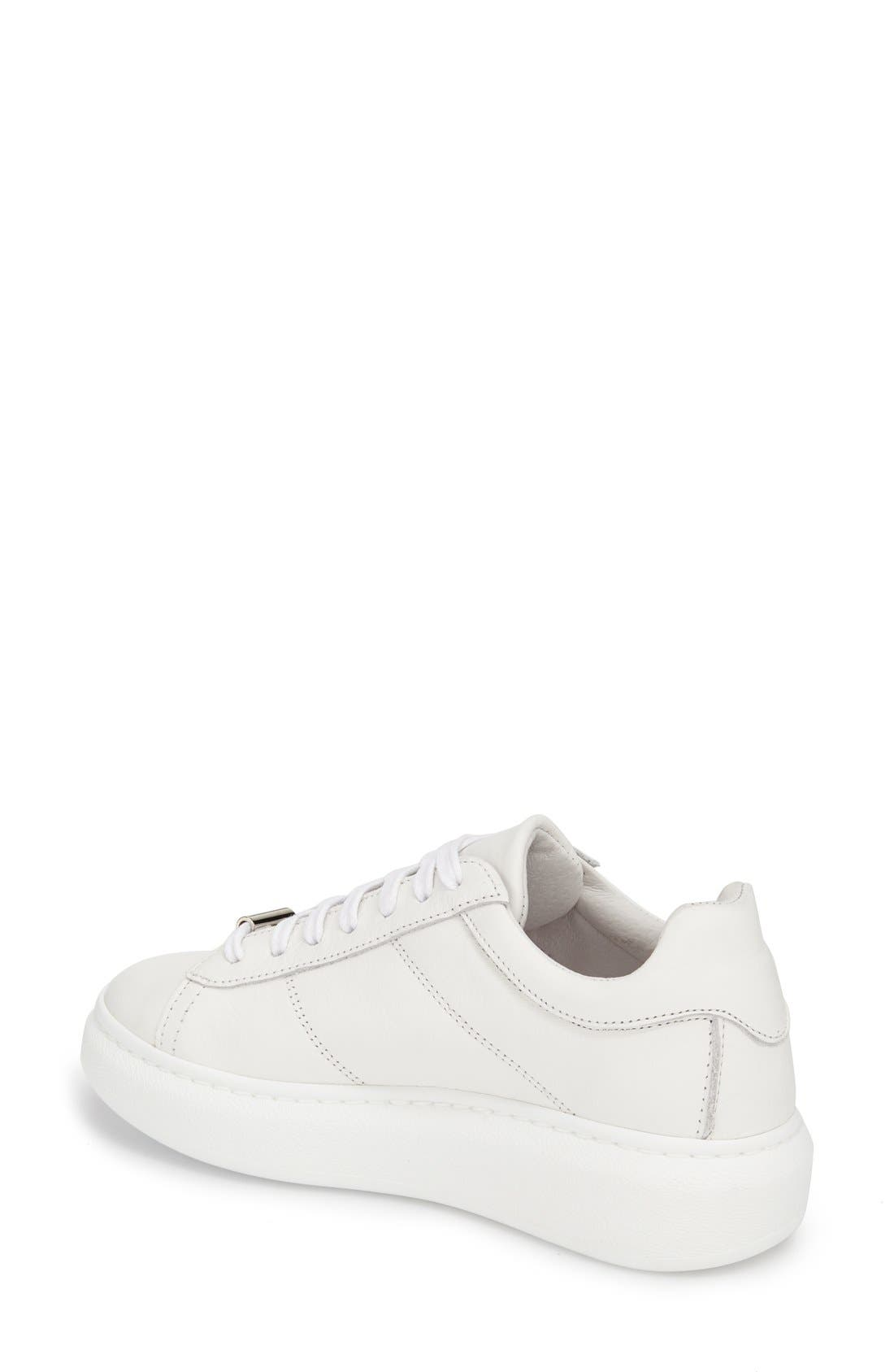 Alternate Image 2  - Topshop 'Toulouse' Leather Sneaker (Women)