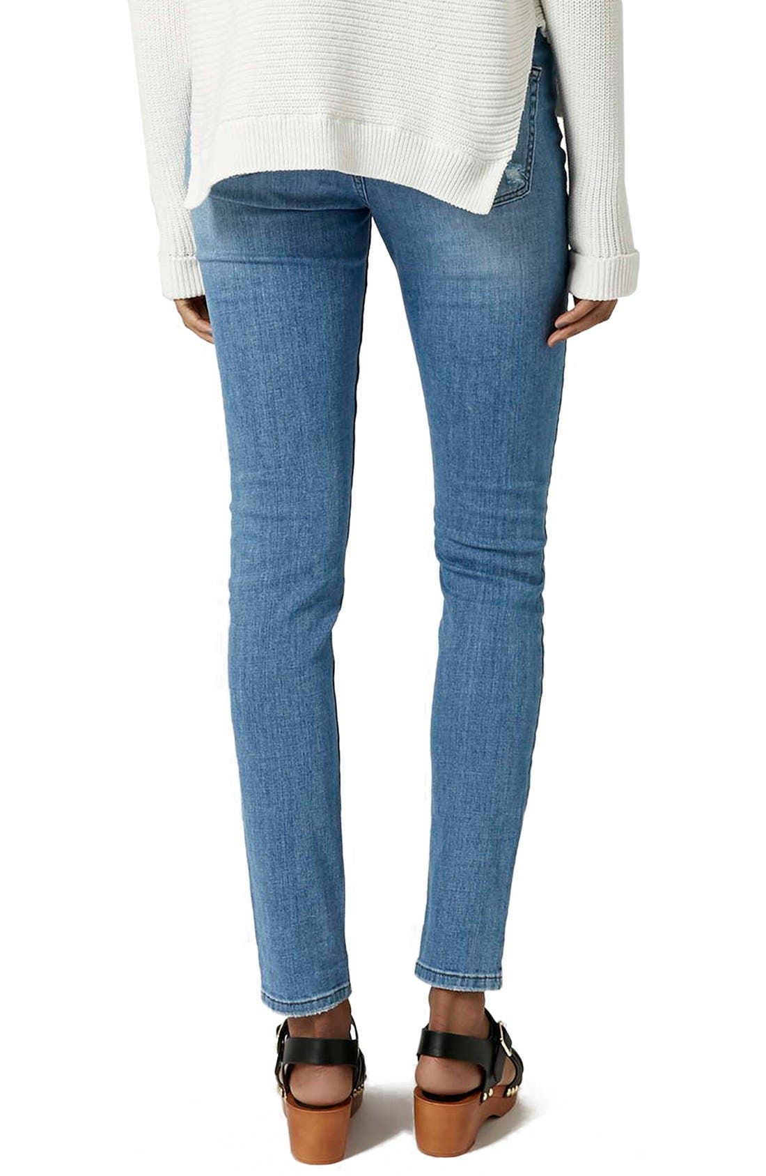 Alternate Image 3  - Topshop Moto Ripped Skinny Jeans (Tall)