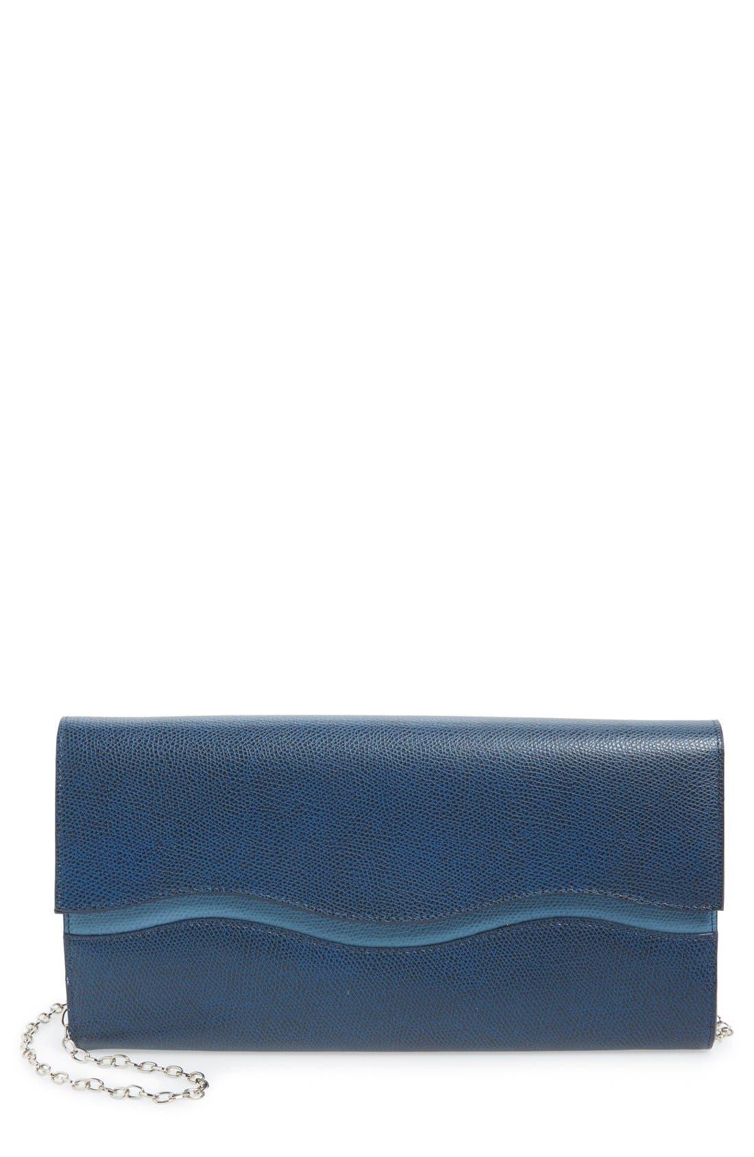 Main Image - Halogen® 'Westlake Wave' Leather Clutch