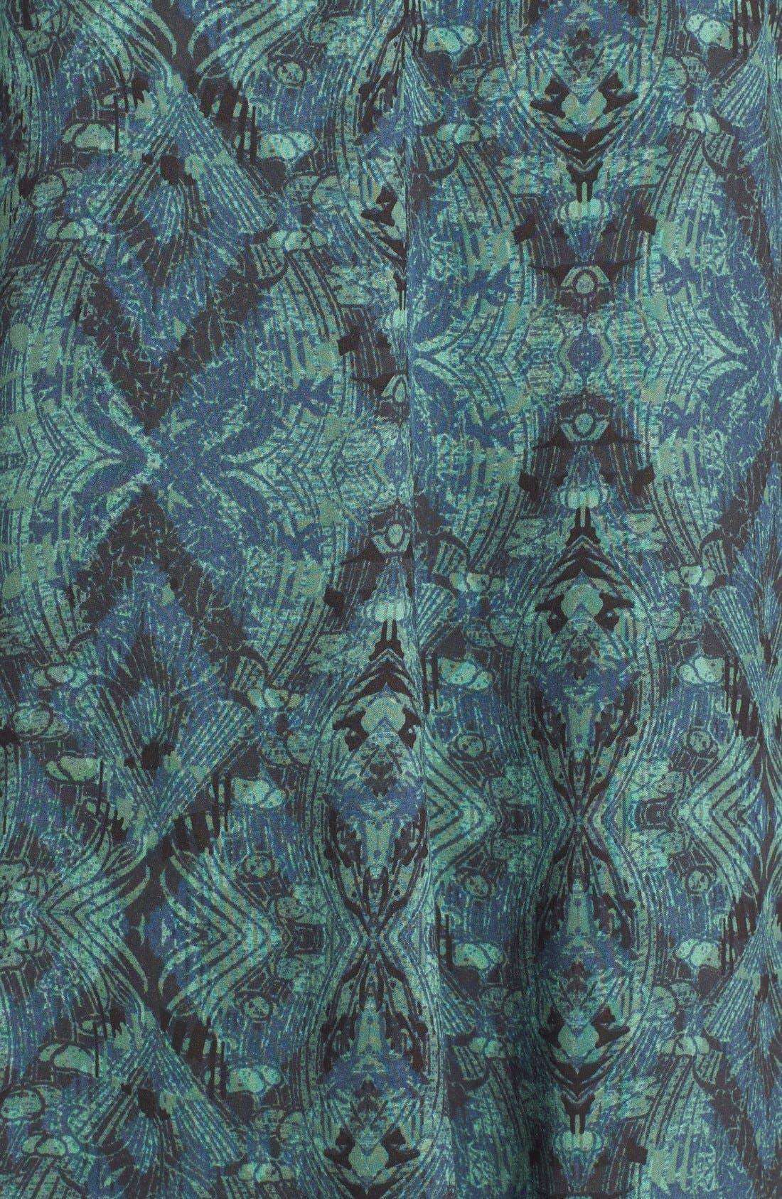 Alternate Image 5  - Sun & Shadow Print Bell Sleeve Shift Dress