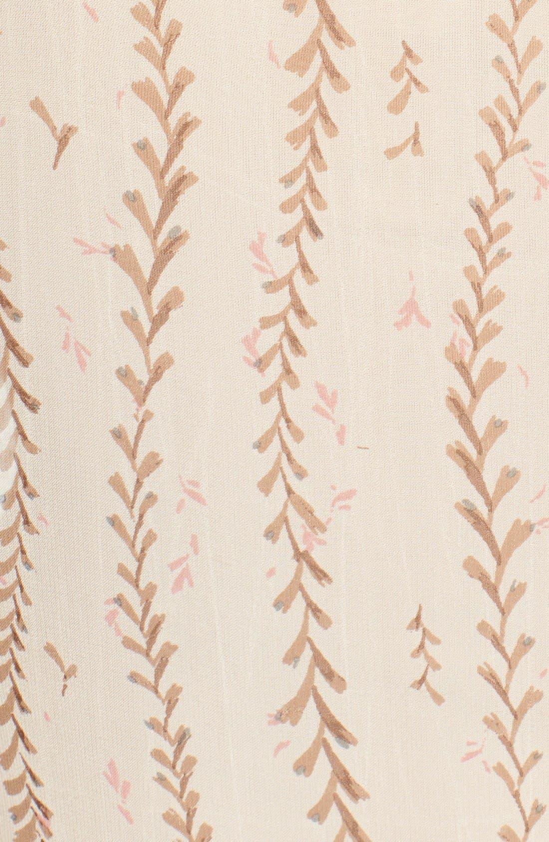 Alternate Image 5  - Lucky Brand Lace Inset Vine Print Blouse