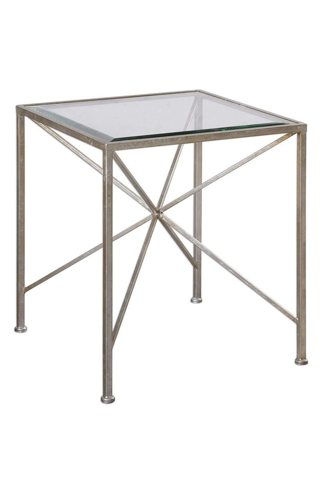 Alternate Image 1 Selected - Uttermost Antiqued Silvertone Cube Table