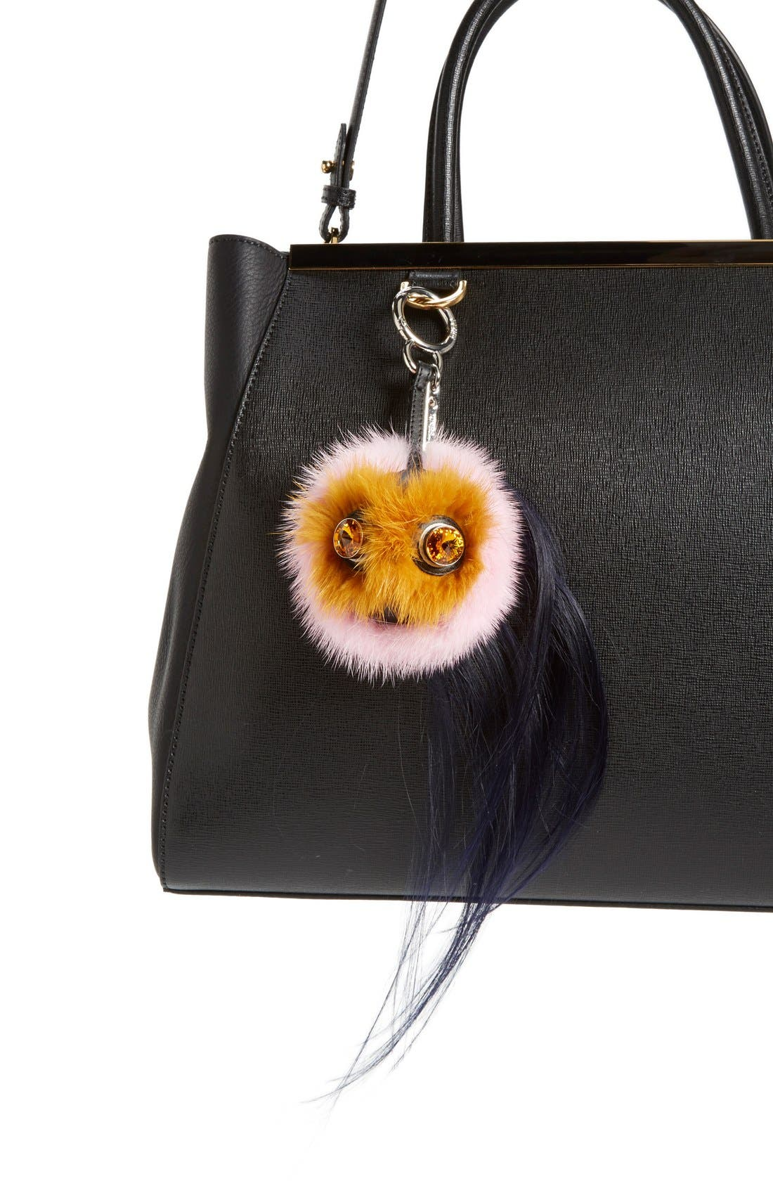 Alternate Image 2  - Fendi 'Mini Qutweet Monster' Genuine Mink & Goat Fur Bag Charm