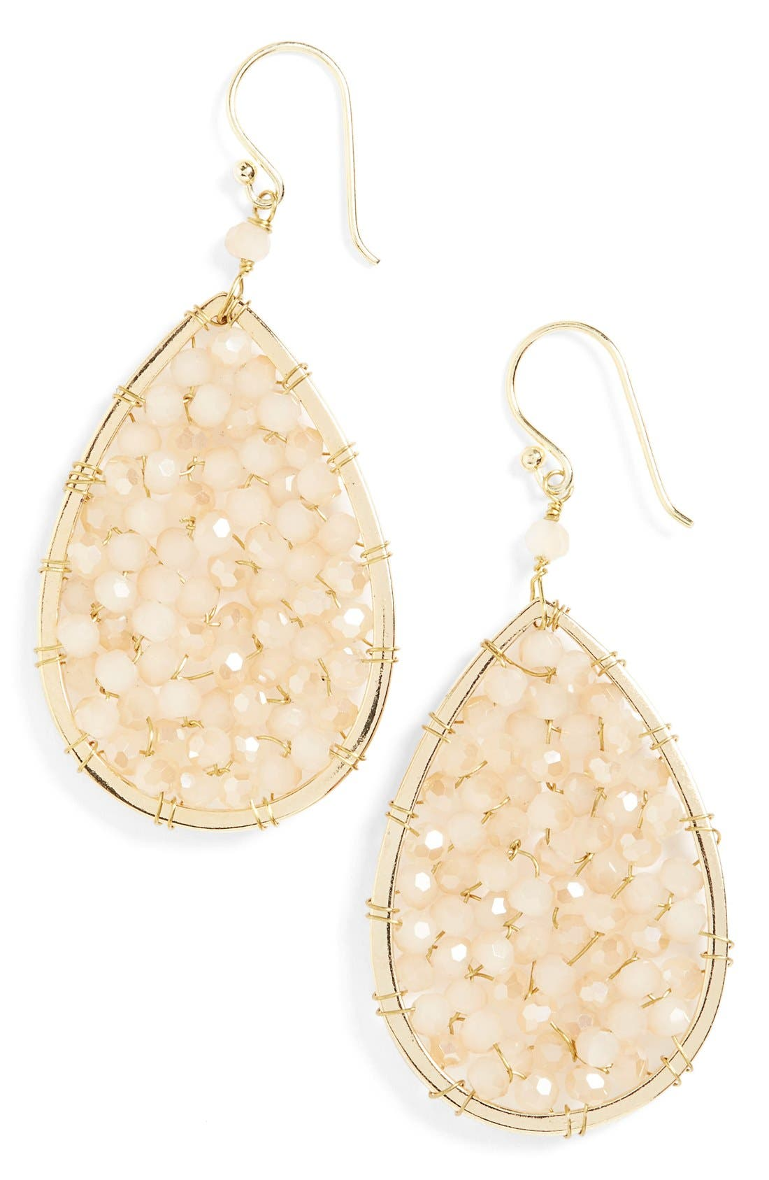 Alternate Image 1 Selected - Panacea Crystal Teardrop Earrings