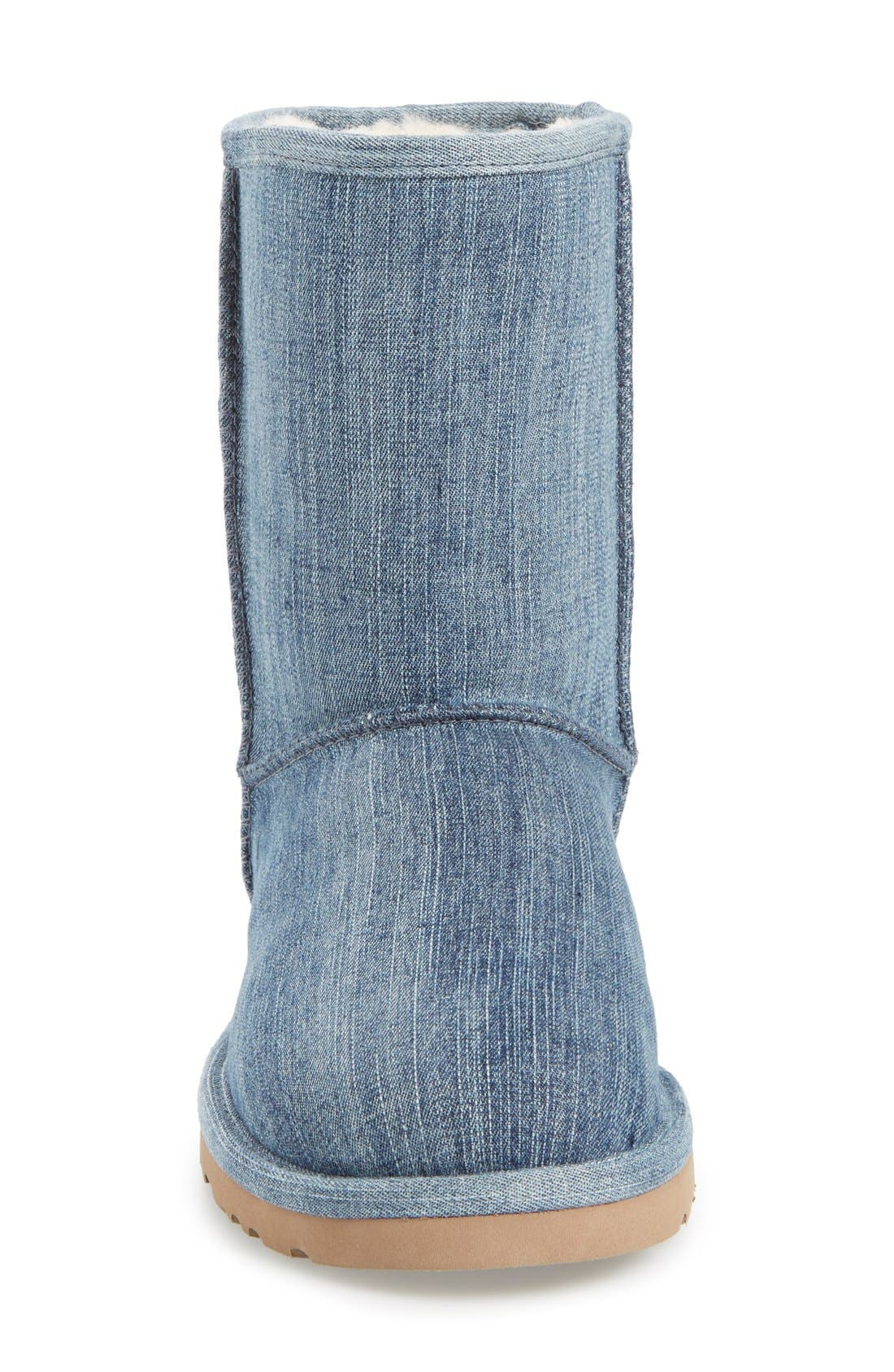 Alternate Image 3  - UGG® 'Classic Short' Denim Boot (Women)