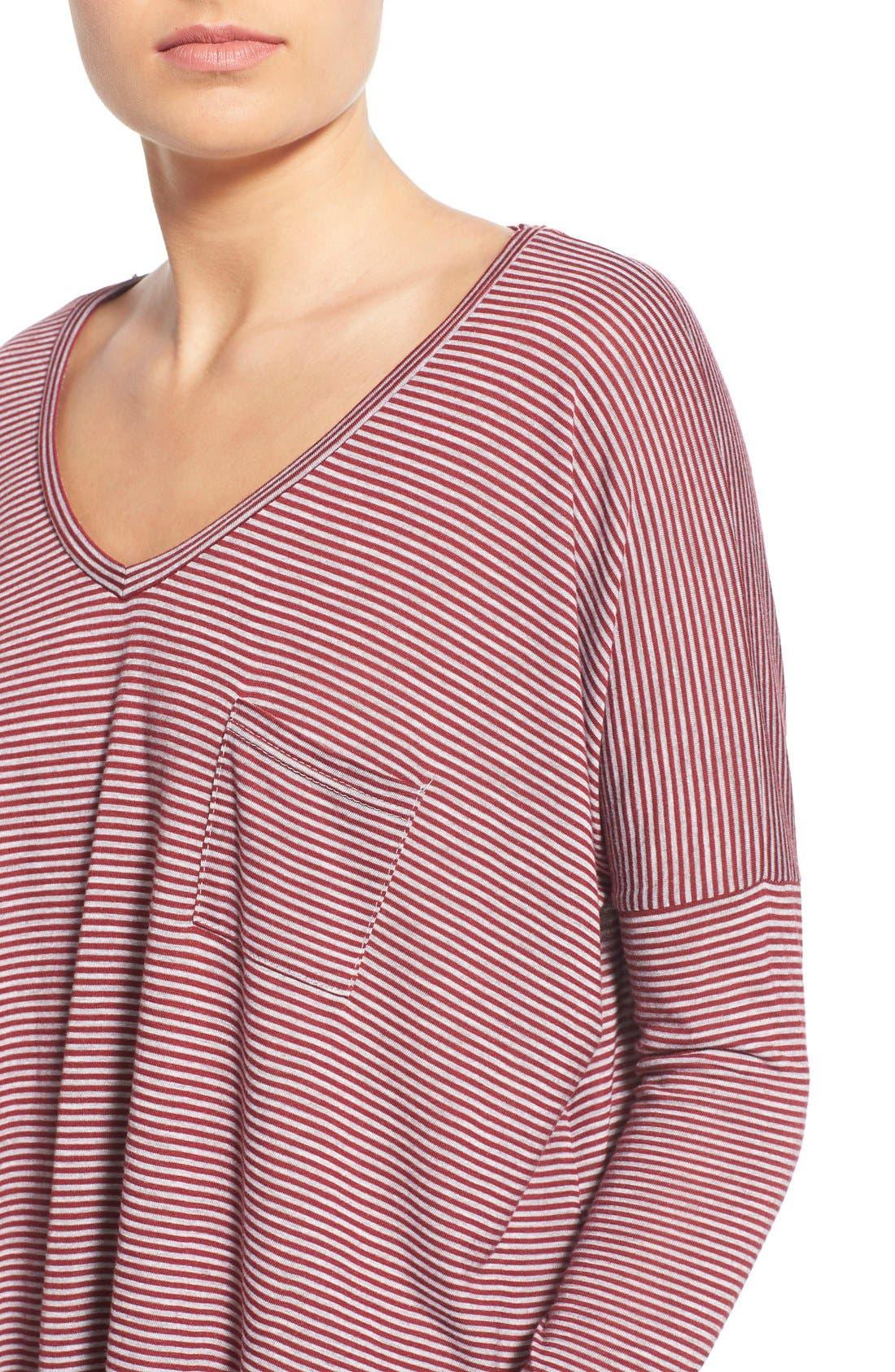 Alternate Image 4  - BP. Stripe Long Sleeve Pocket Tee