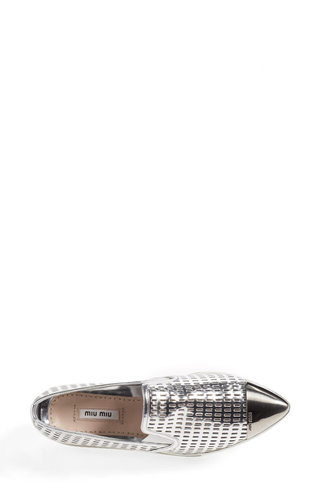 Alternate Image 3  - Miu Miu 'Pantofole' Perforated Platform Sneaker (Women)