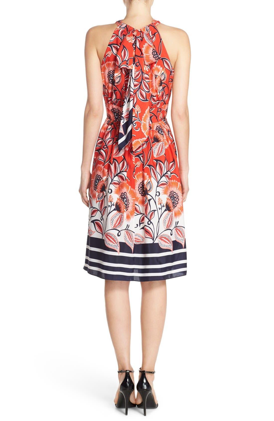 Alternate Image 2  - Eliza J Mixed Print Crêpe de Chine Fit & Flare Dress