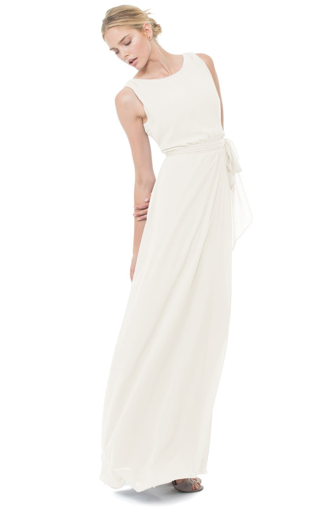 CEREMONY BY JOANNA AUGUST 'Tina' Tie Back Chiffon
