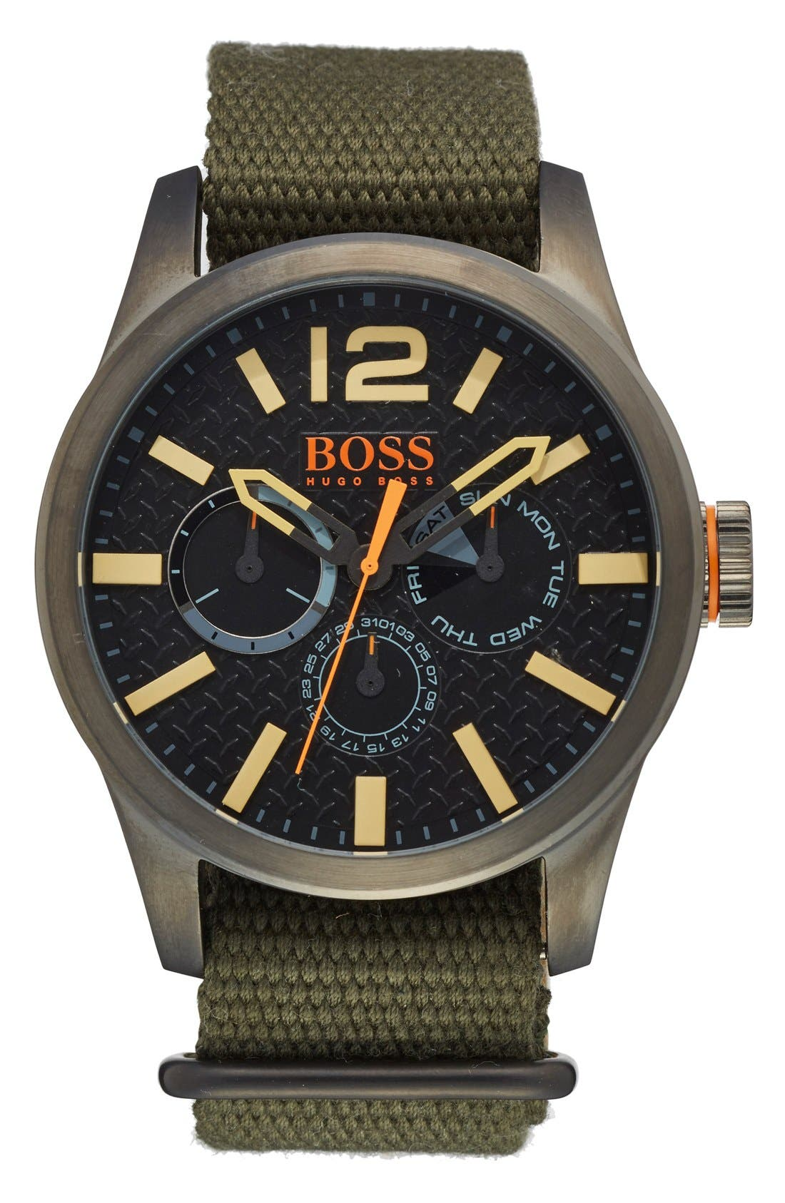 BOSS Orange 'Paris' Multifunction Watch, 47mm