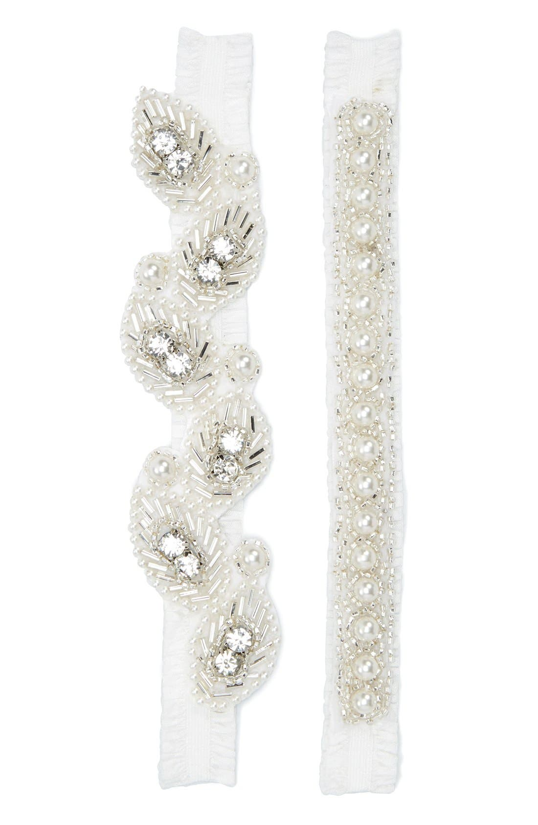 Nestina Accessories 'Ashley' Bridal Garters (Set of 2)