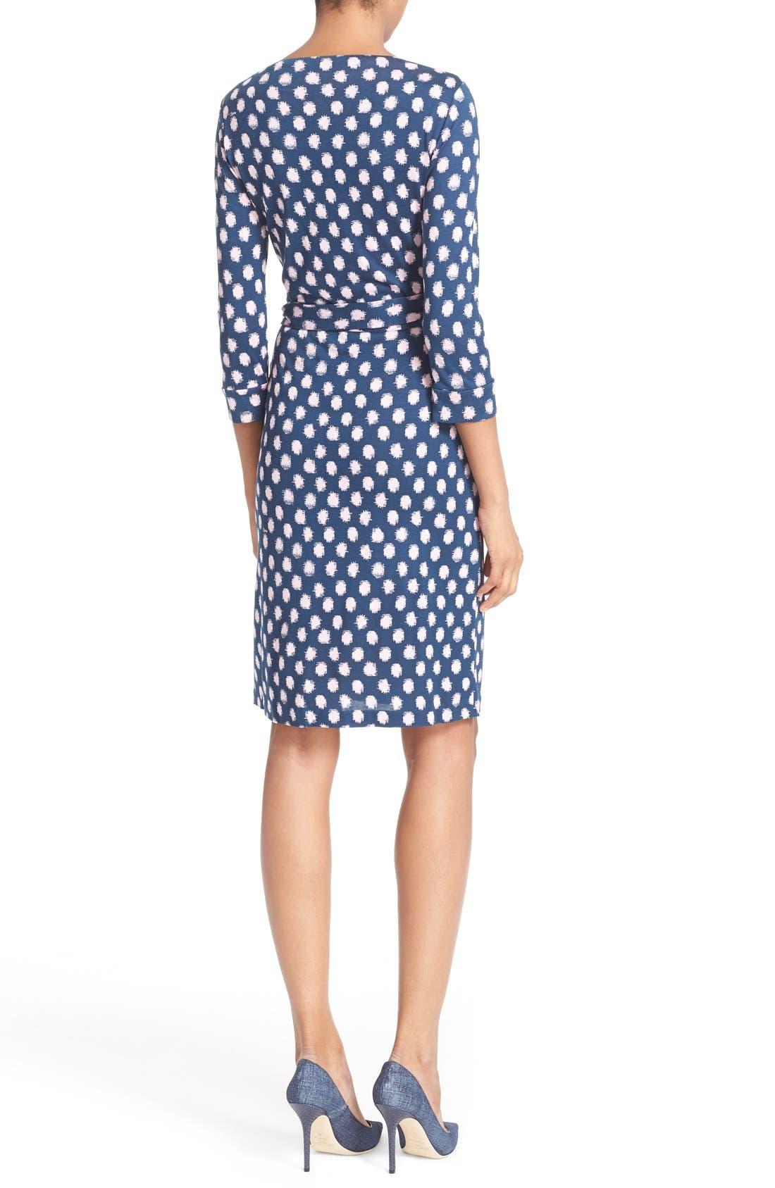 Alternate Image 2  - Diane von Furstenberg 'New Julian Two' Polka Dot Silk Wrap Dress (Nordstrom Exclusive)
