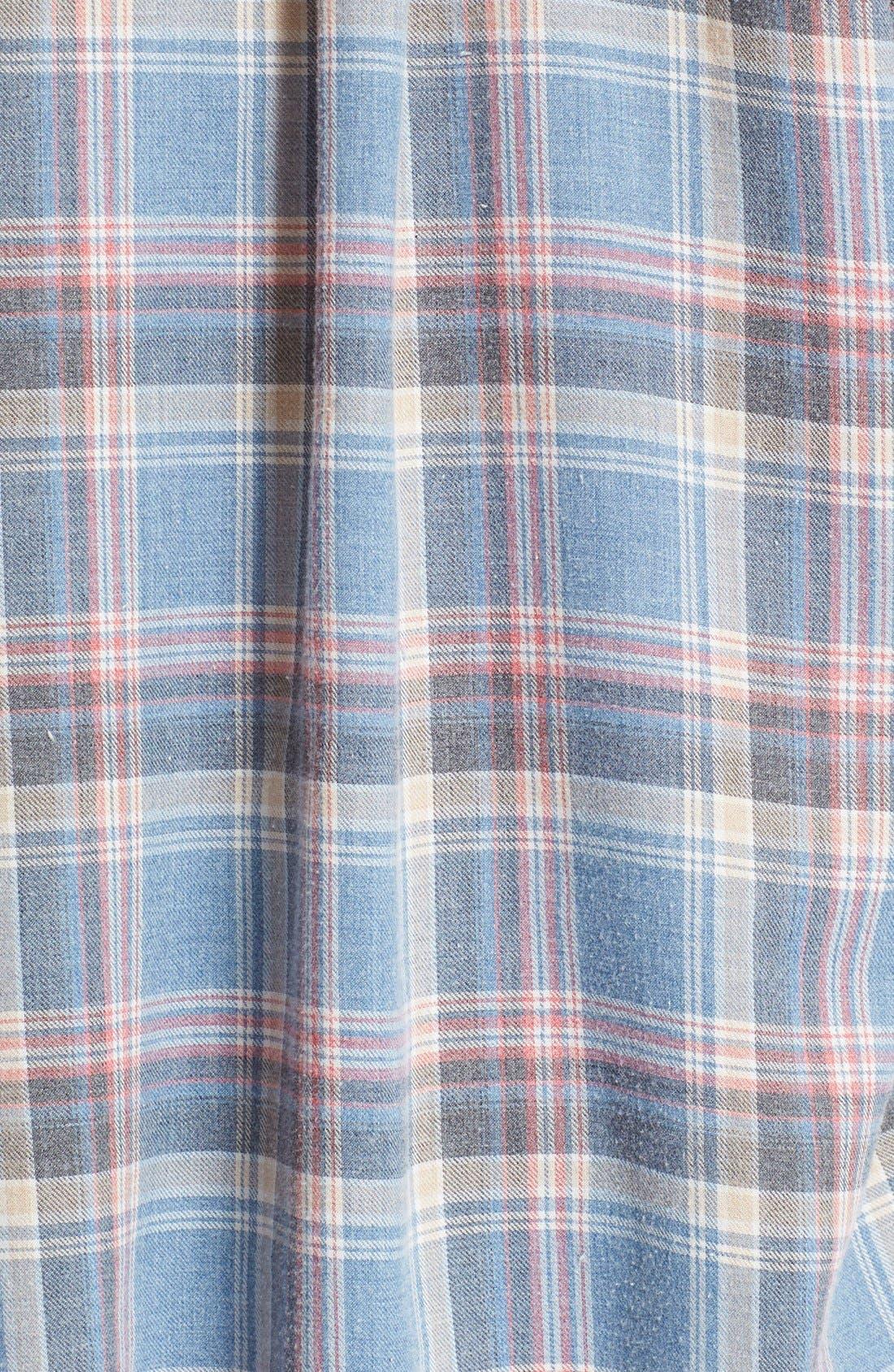 Alternate Image 5  - IRO 'Dally' Woven Plaid Cap Sleeve Shirt