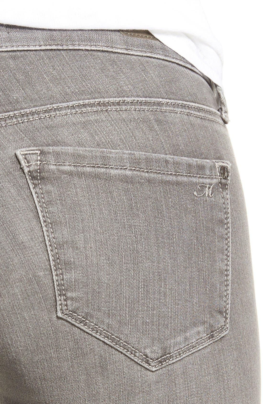 Alternate Image 4  - Mavi Jeans 'Serena' Distressed Stretch Skinny Jeans (Grey Ripped)