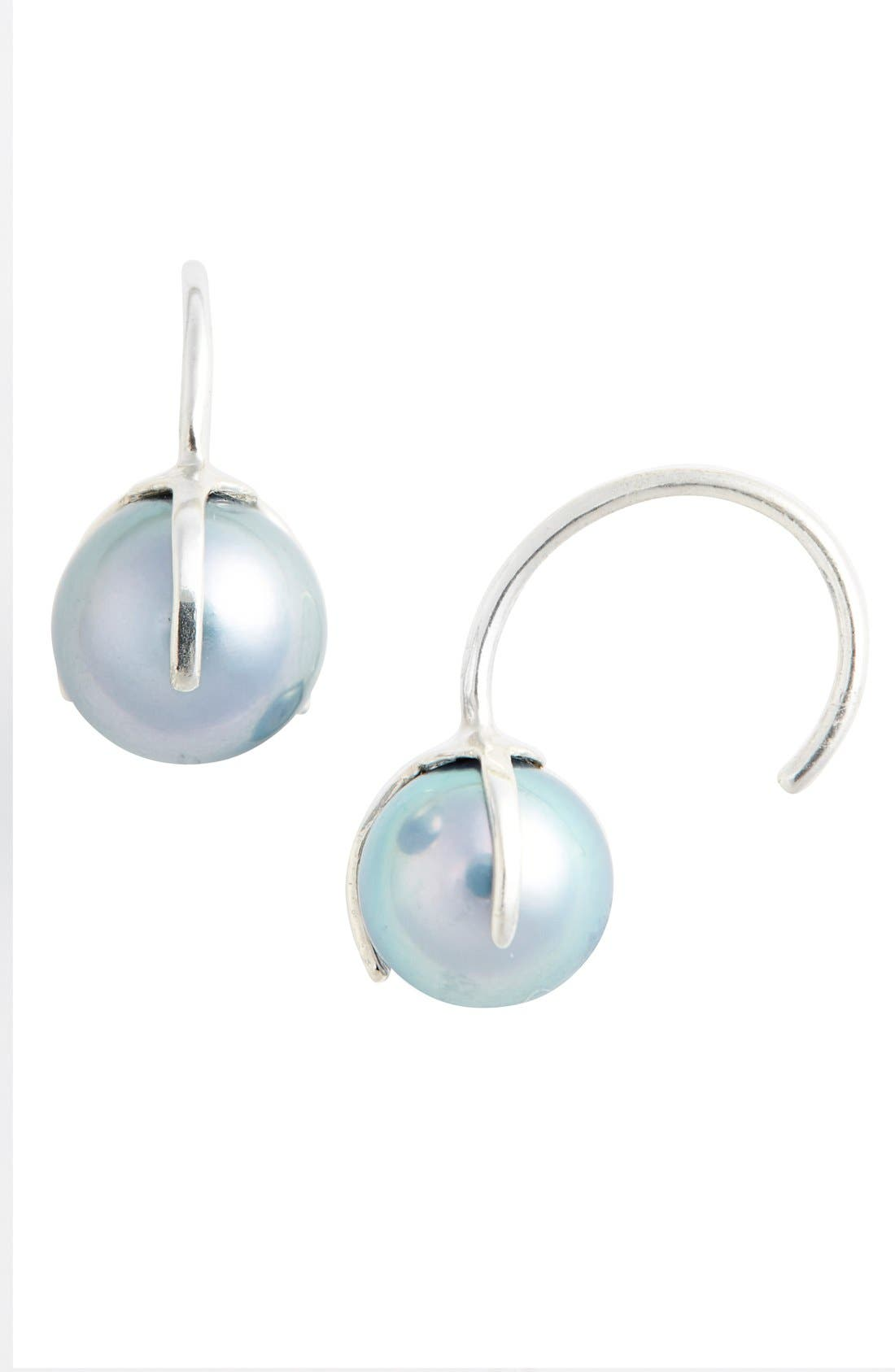 JULIEN DAVID Cultured Pearl Cuff Earrings