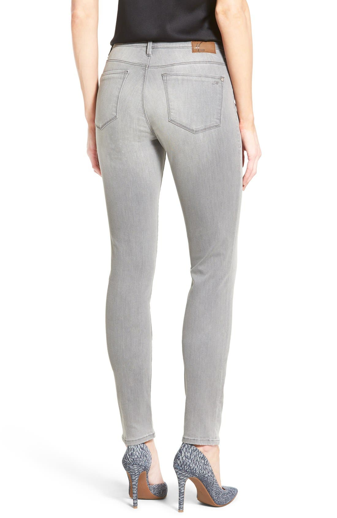 Alternate Image 2  - Mavi Jeans 'Alissa' Stretch Skinny Jeans (Light Grey Tribeca) (Petite)
