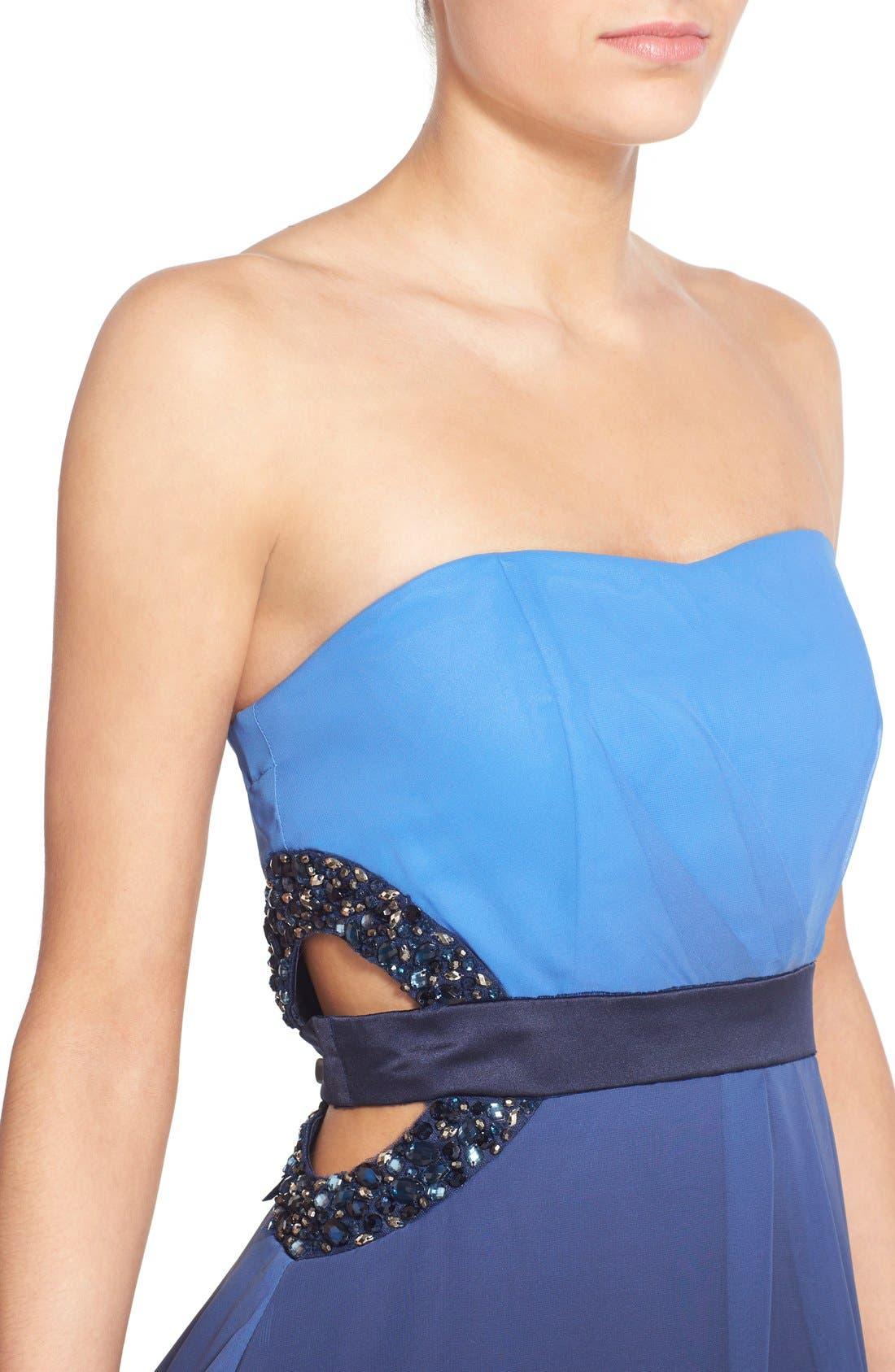 Alternate Image 4  - Dear Moon Embellished Side Cutout Skater Dress