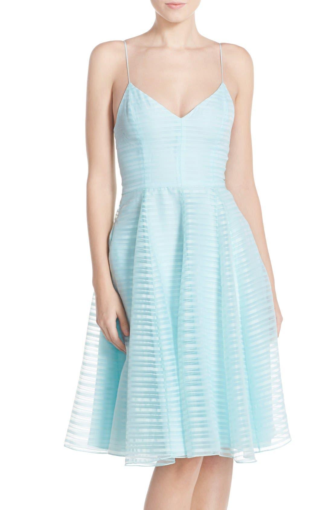 Alternate Image 1 Selected - Halson Heritage Shadow Stripe Organza Dress