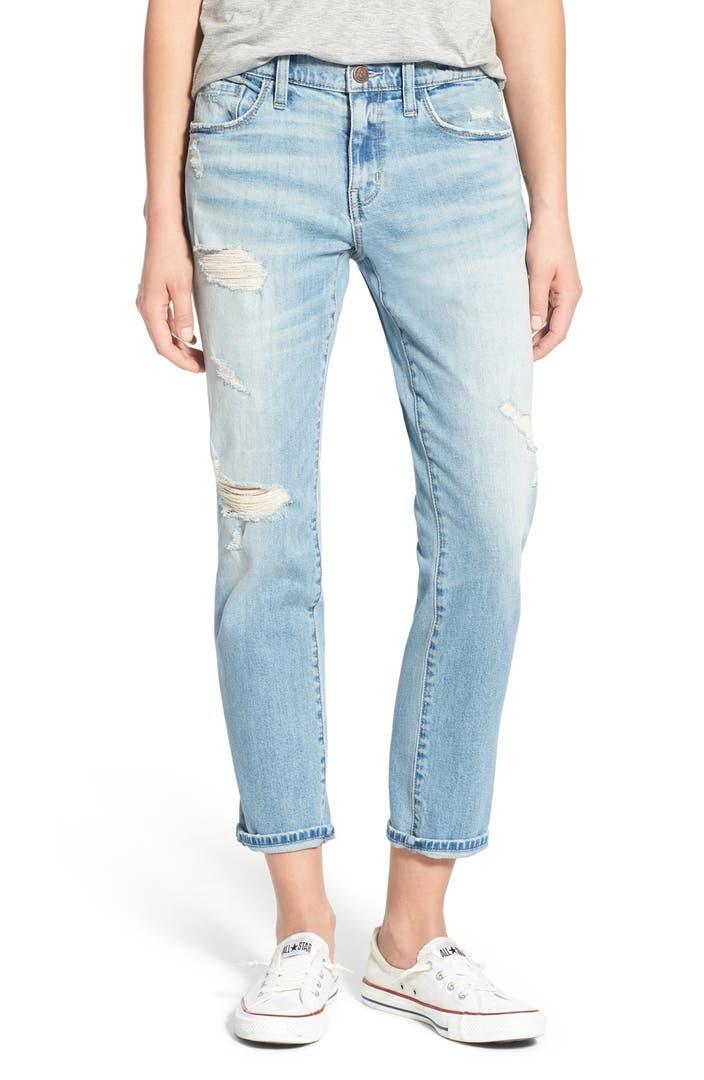 treasure bond destroyed boyfriend jeans gravel light worn nordstrom. Black Bedroom Furniture Sets. Home Design Ideas