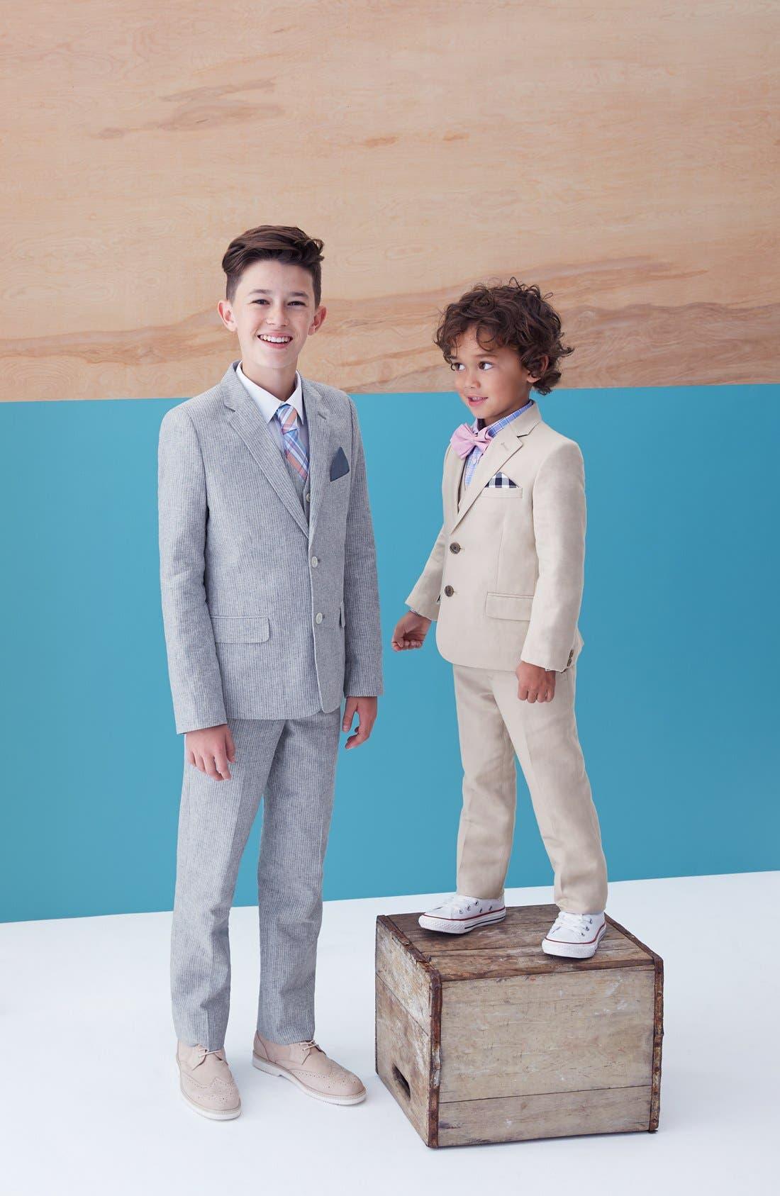 Alternate Image 3  - Nordstrom 'Quentin' Linen Blend Trousers (Toddler Boys, Little Boys & Big Boys)