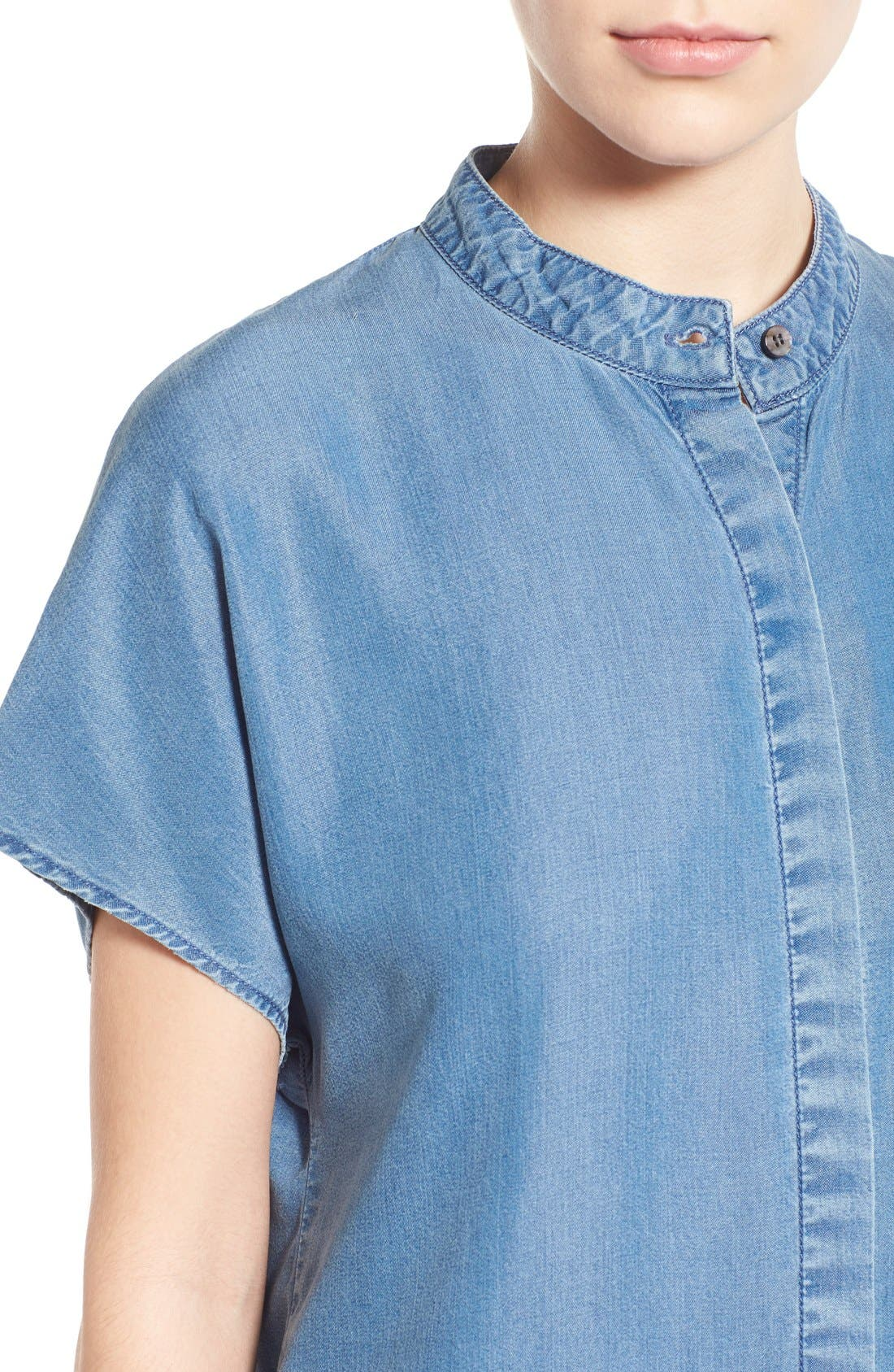 Alternate Image 4  - KENDALL + KYLIE Keyhole Back Chambray Top