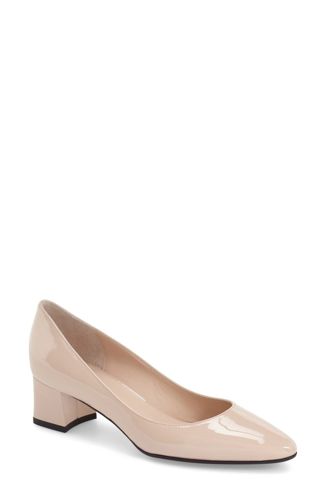 AQUATALIA 'Pheobe' Weatherproof Almond Toe Pump