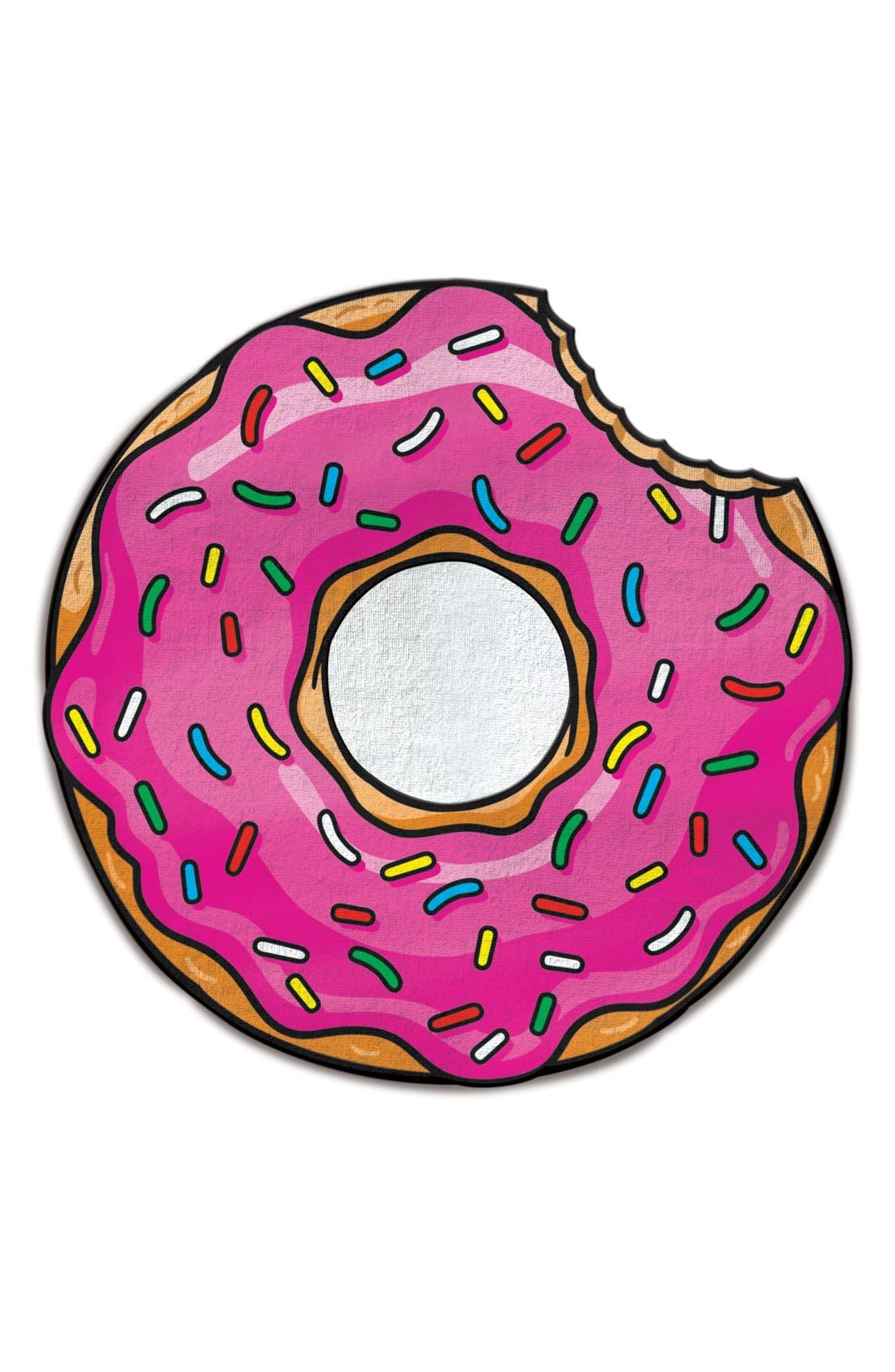 Alternate Image 1 Selected - BigMouth Inc. Donut Microfiber Beach Blanket