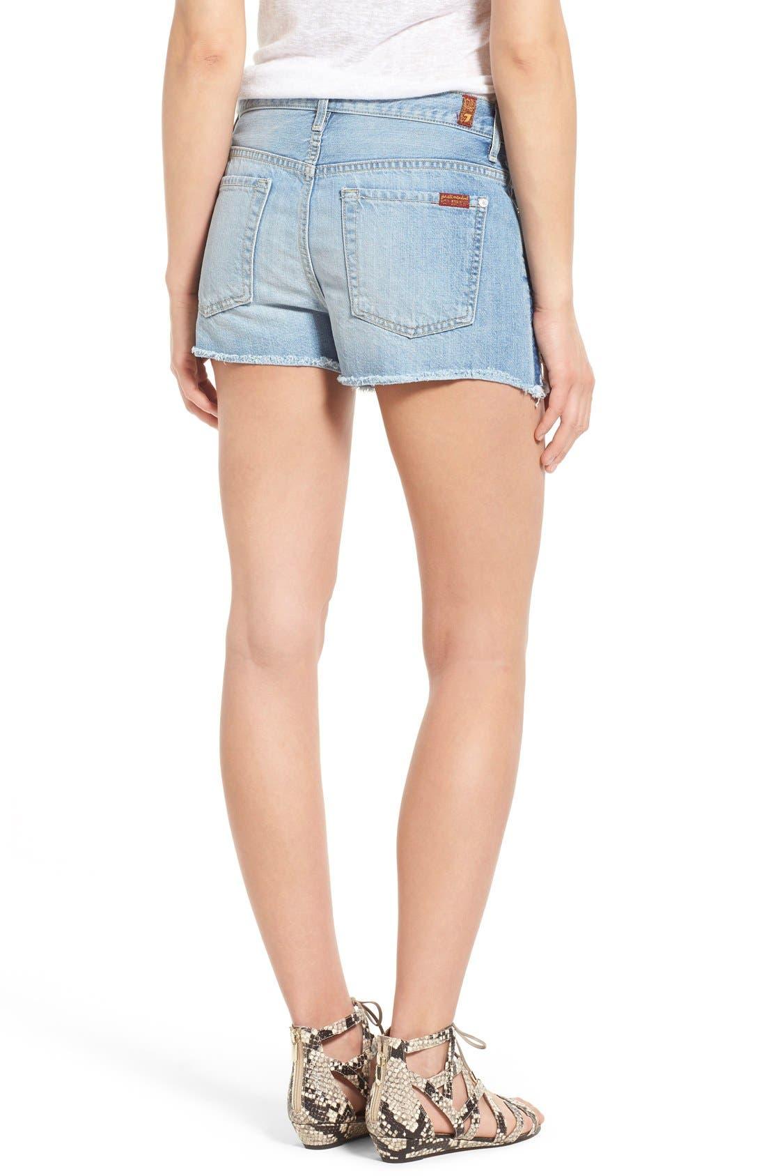 Alternate Image 2  - 7 For All Mankind® High Rise Cutoff Denim Shorts (Vintage Coronado Springs)