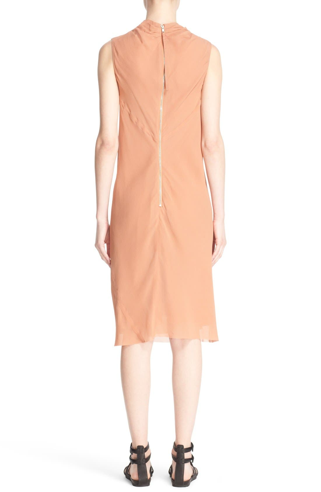 Alternate Image 2  - Rick Owens 'Bonnie' Sleeveless Silk Georgette Sheath Dress
