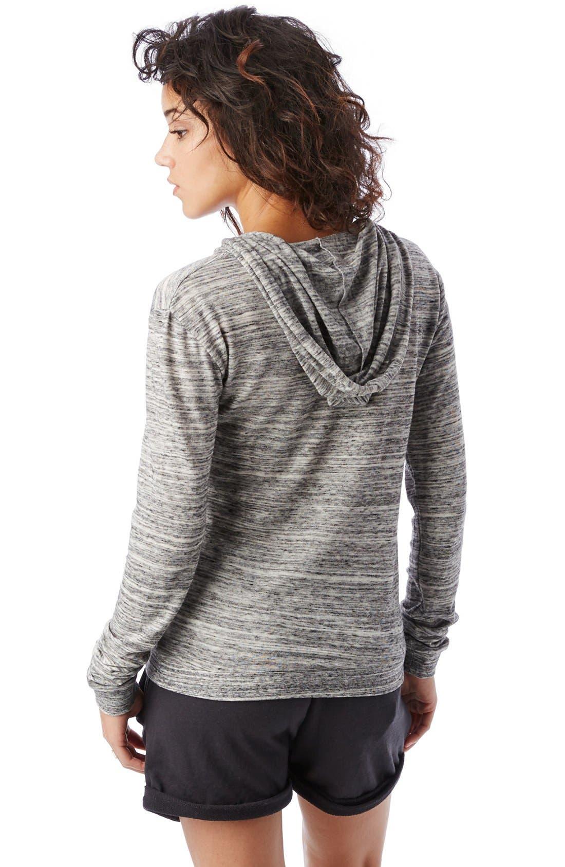 Alternate Image 2  - Alternative Heathered Jersey Hoodie