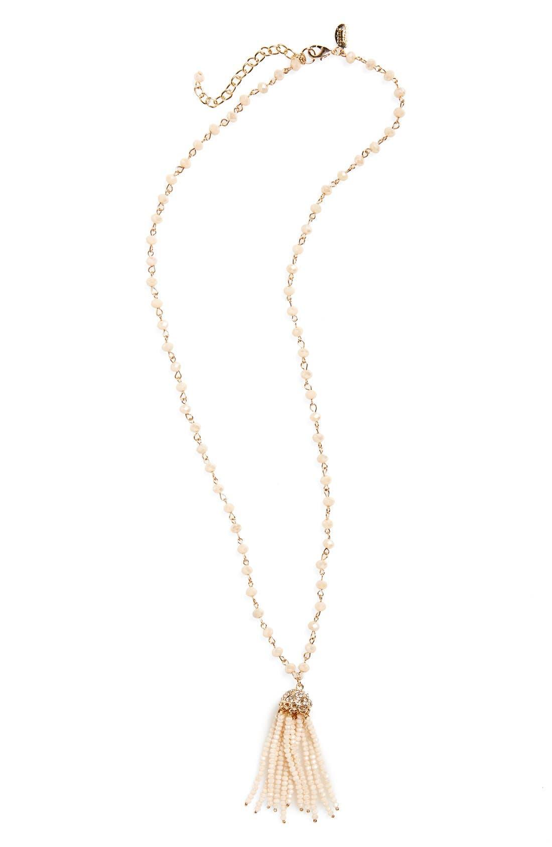 Alternate Image 1 Selected - Spring Street Beaded Tassel Necklace