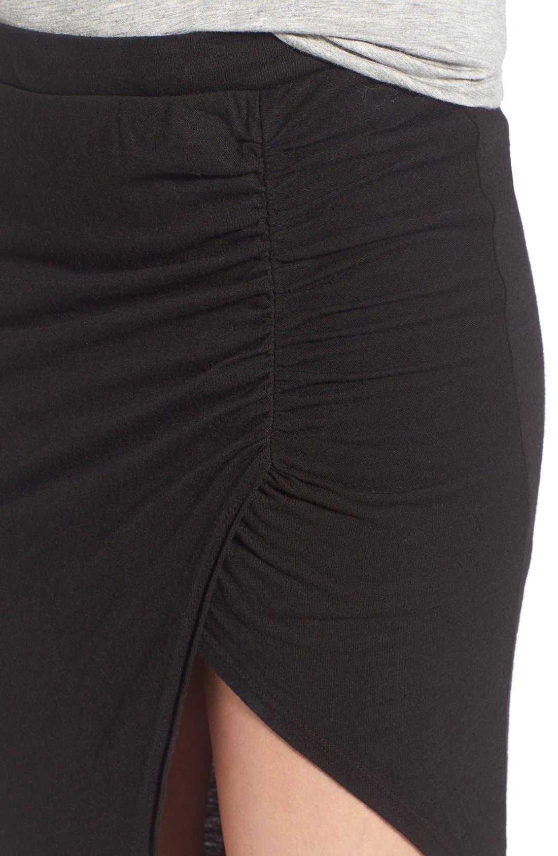 Alternate Image 4  - Pam & Gela Ruched Asymmetrical Maxi Skirt
