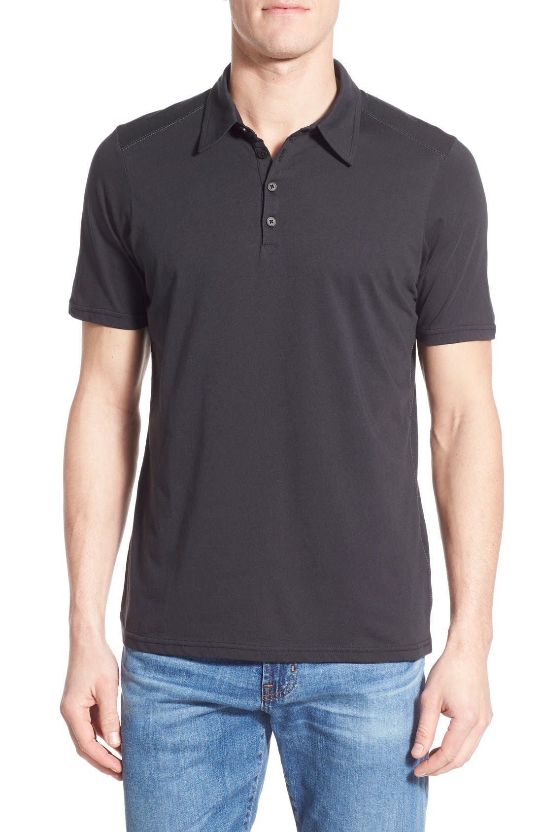 Nau 'Echo' Stripe Jersey Organic Cotton Polo