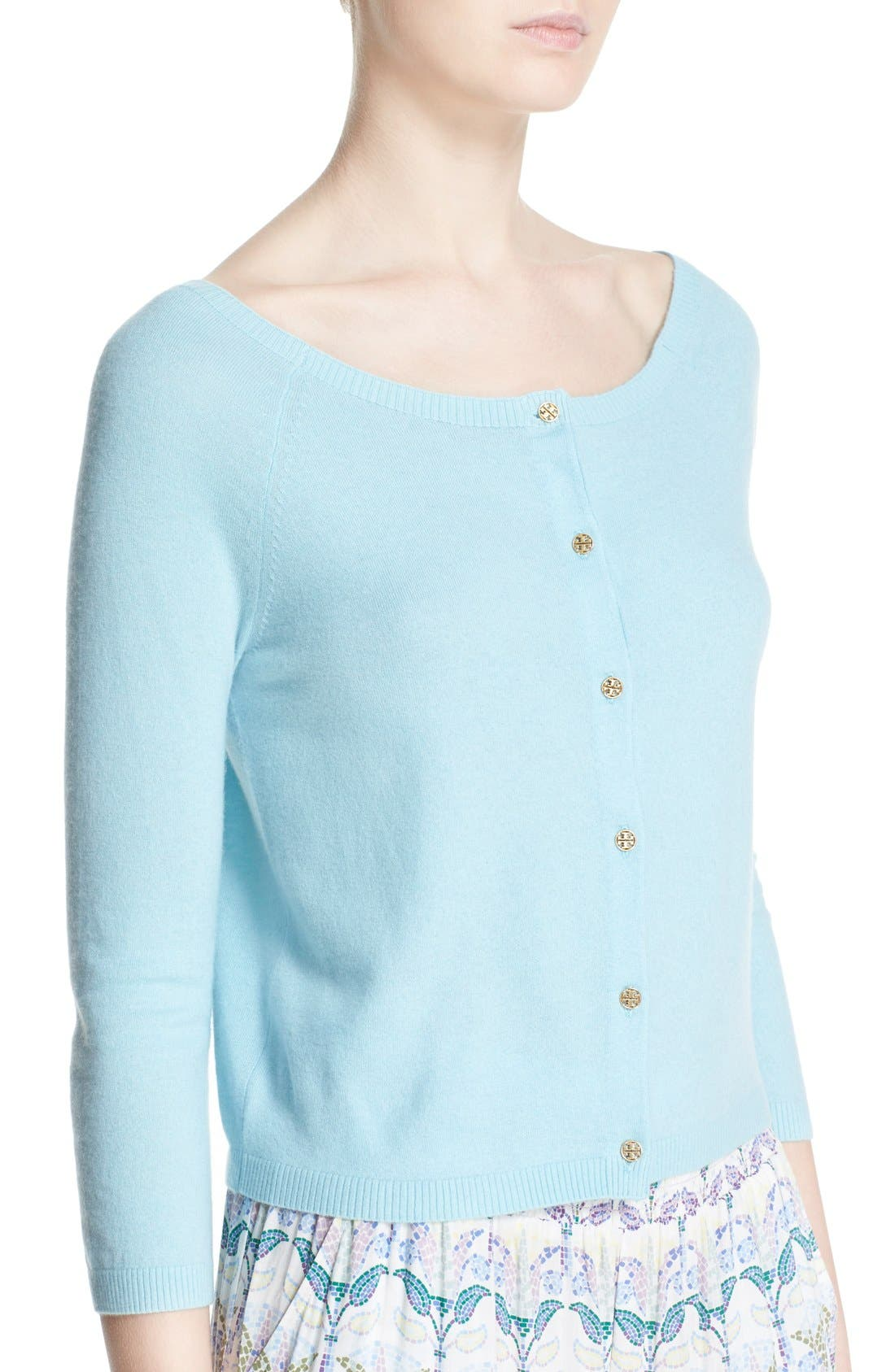 Alternate Image 4  - Tory Burch 'Rosemary' Cashmere Cardigan