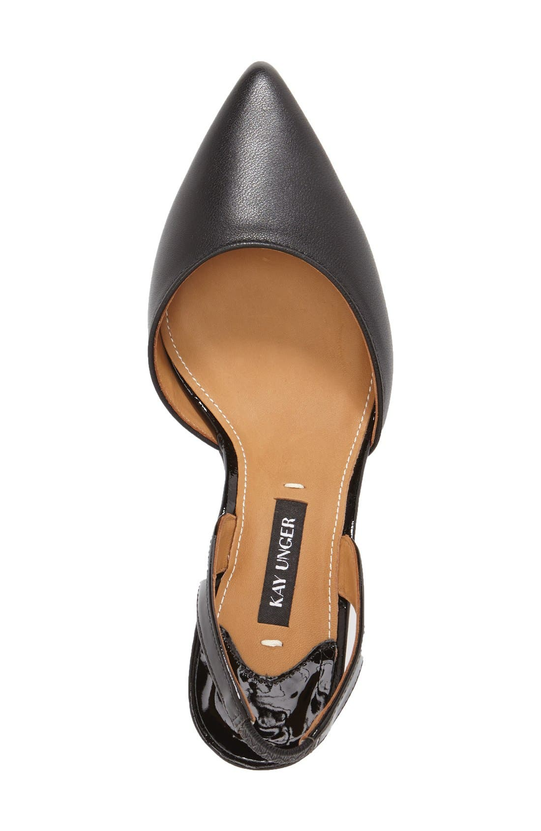 Alternate Image 3  - Kay Unger 'Baylee' Slingback Pointy Toe Pump (Women)