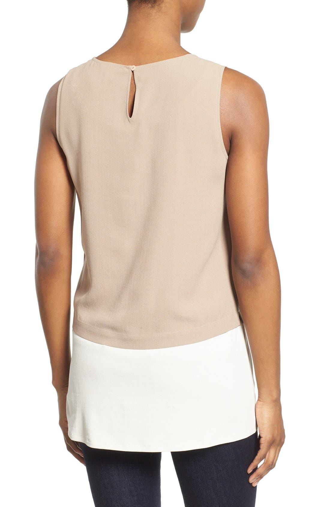 Alternate Image 2  - Eileen Fisher Silk Round Neck Shell (Regular & Petite)