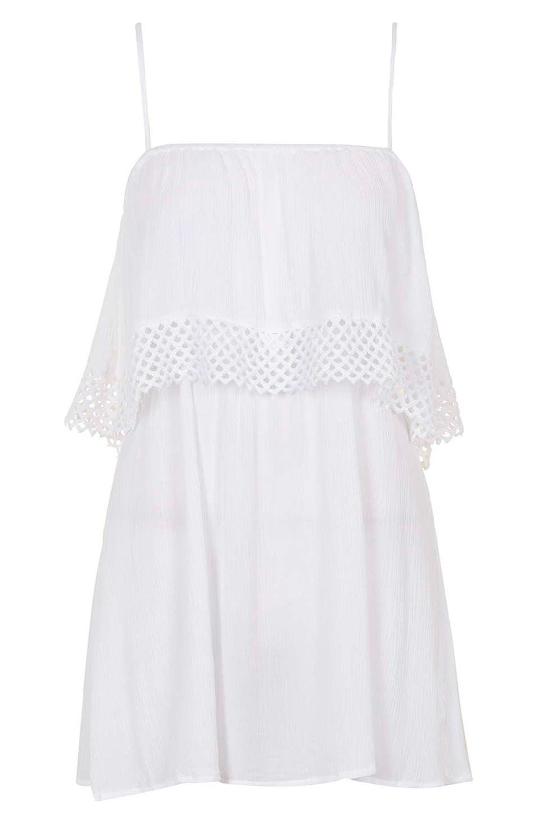 Alternate Image 3  - Topshop Crochet Overlay Cover-Up Sundress