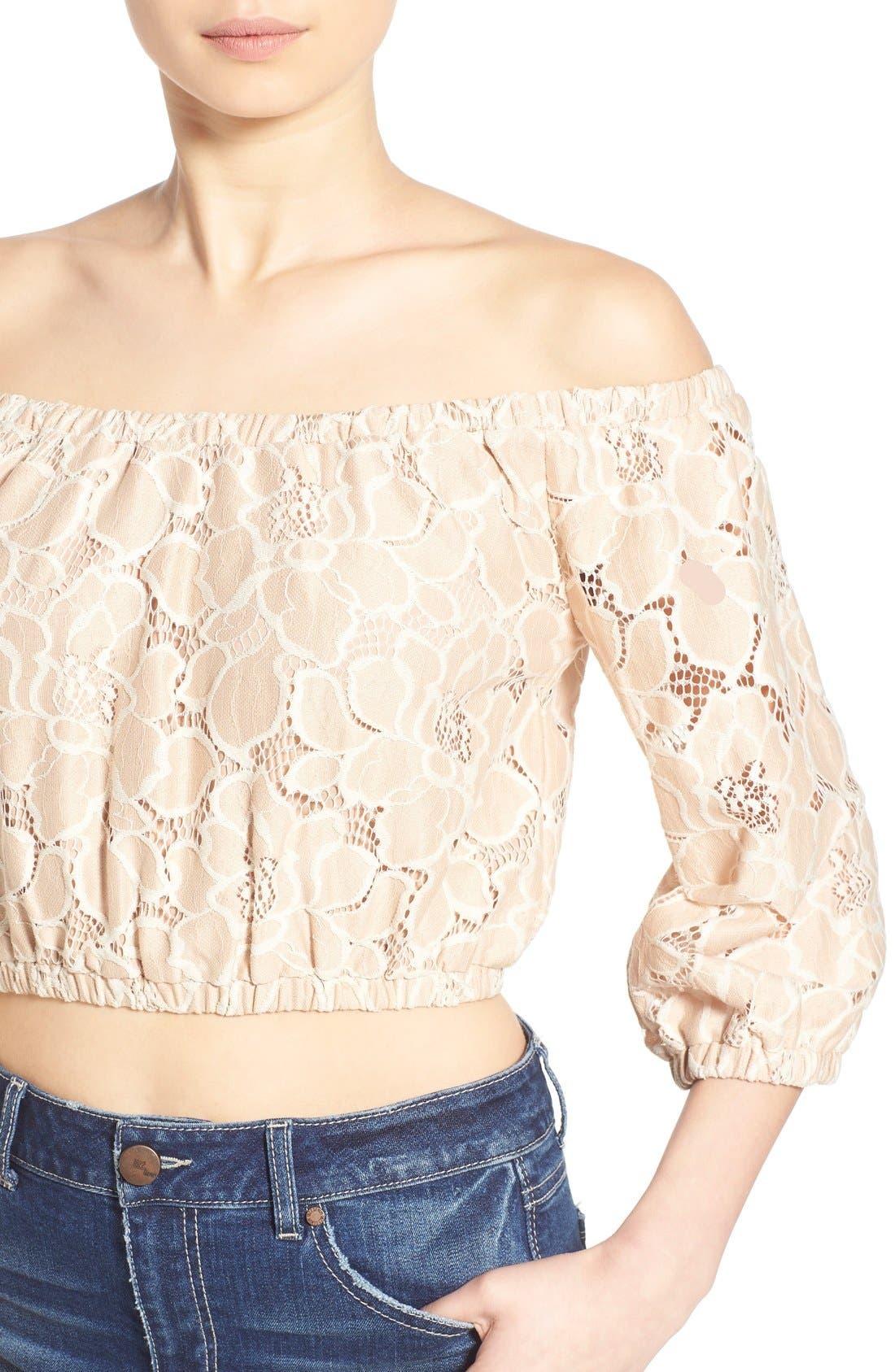 Alternate Image 5  - Tularosa 'Hadley' Off the Shoulder Lace Crop Top